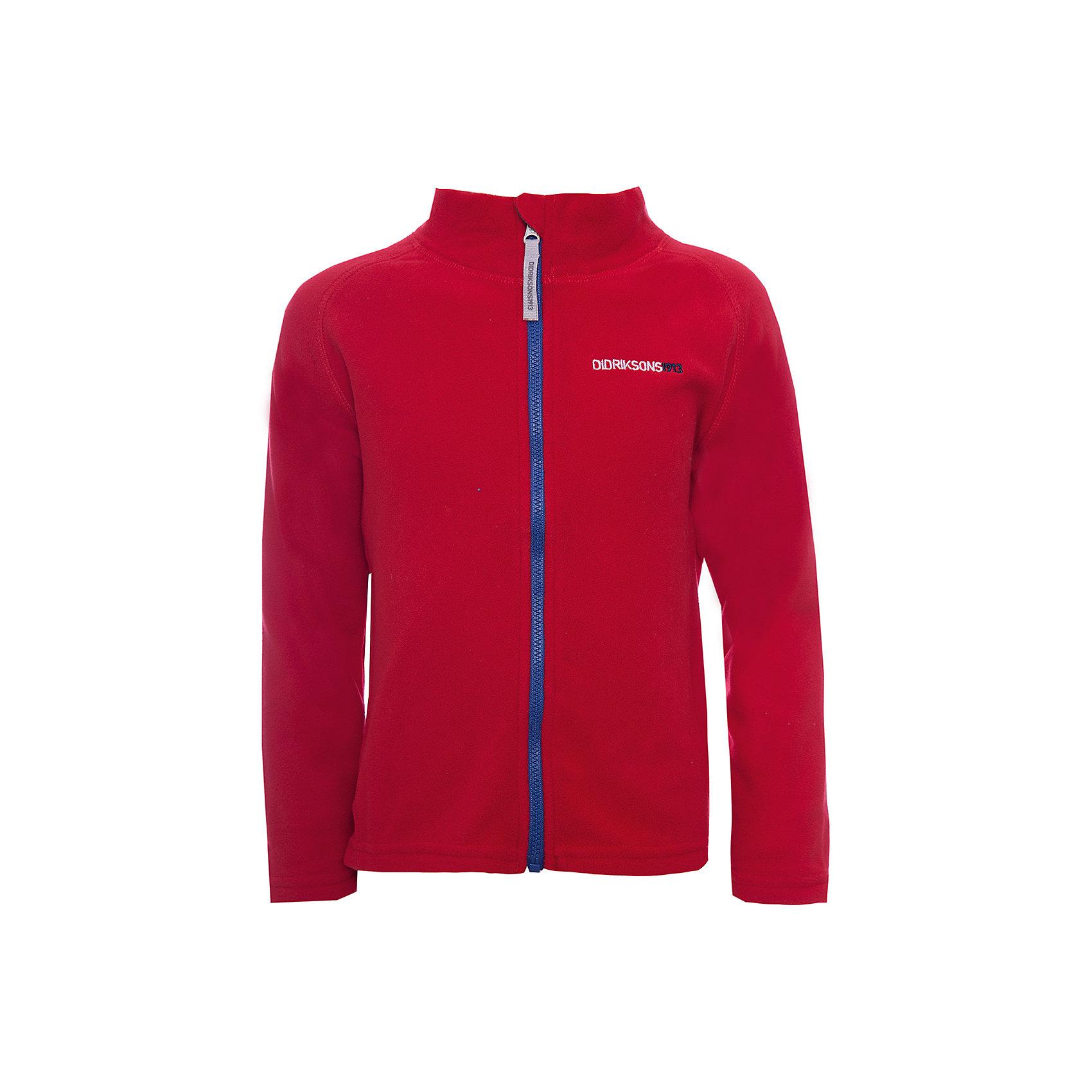 Куртка MONTE  DIDRIKSONS для мальчикаФлис и термобелье<br>Характеристики товара:<br><br>• цвет: красный<br>• состав ткани: 100% полиэстер (флис)<br>• утеплитель: нет<br>• сезон: демисезон<br>• теплоизоляционная<br>• застежка: молния<br>• страна бренда: Швеция<br>• страна изготовитель: Китай<br><br>Мягкая детская куртка может надеваться под верхнюю одежду для дополнительного утепления. Флисовая детская куртка легко надевается благодаря продуманному крою. Такая куртка для ребенка отличается комфортной посадкой. Детская куртка обладает хорошими теплоизоляционными свойствами. <br><br>Куртку для мальчика Monte Didriksons (Дидриксонс) можно купить в нашем интернет-магазине.<br><br>Ширина мм: 356<br>Глубина мм: 10<br>Высота мм: 245<br>Вес г: 519<br>Цвет: красный<br>Возраст от месяцев: 12<br>Возраст до месяцев: 15<br>Пол: Мужской<br>Возраст: Детский<br>Размер: 80,140,130,120,110,100,90<br>SKU: 7045064