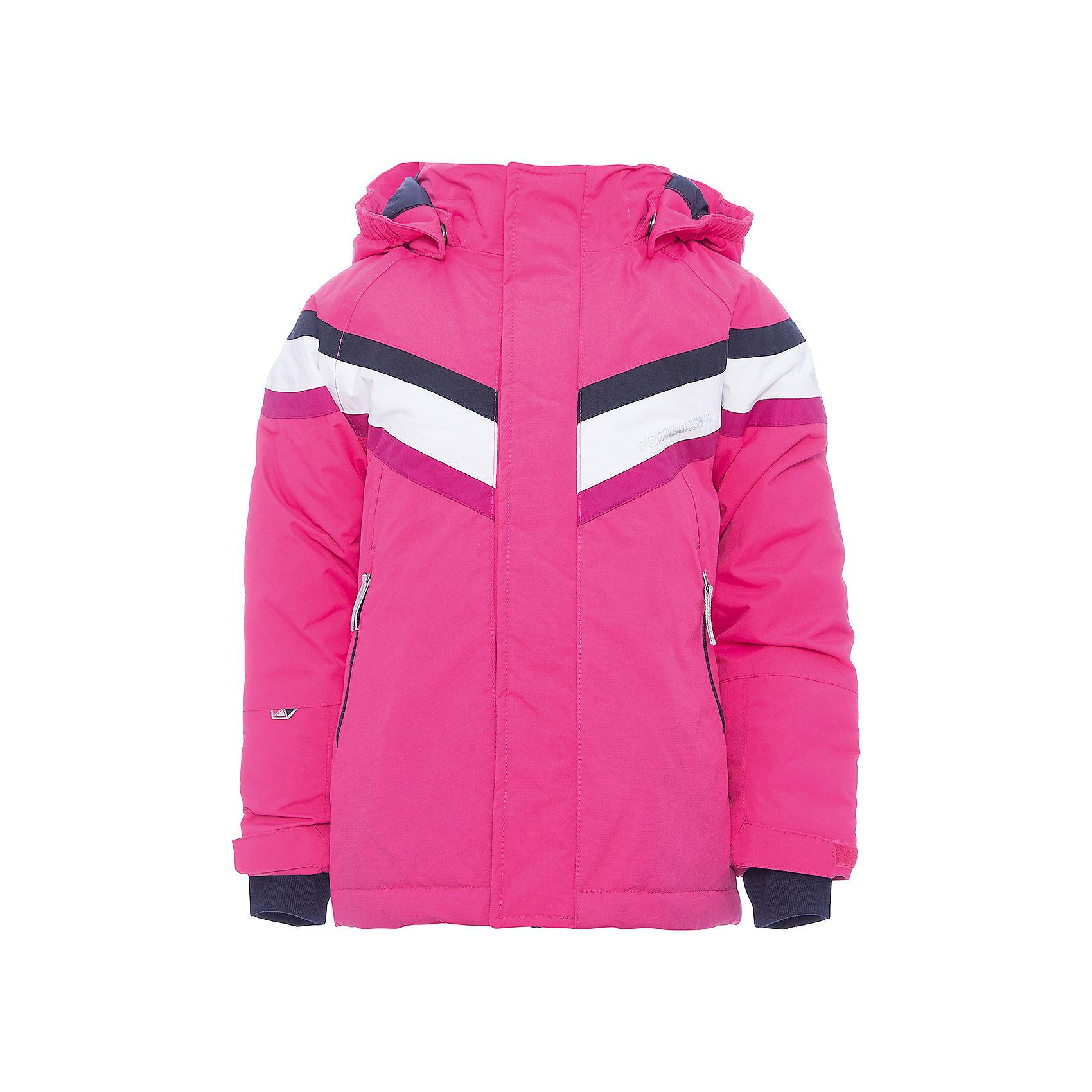 Куртка SAFSEN DIDRIKSONS для девочкиВерхняя одежда<br>Характеристики товара:<br><br>• цвет: фуксия<br>• состав ткани: 100% полиамид<br>• подкладка: 100% полиэстер<br>• утеплитель: 100% полиэстер<br>• сезон: зима<br>• мембранная<br>• температурный режим: от -20 до +5<br>• водонепроницаемость: 10000 мм <br>• паропроницаемость: 4000 г/м2<br>• плотность утеплителя: 140г/м2<br>• швы проклеены<br>• капюшон: без меха, съемный<br>• застежка: молния<br>• регулируемый капюшон, манжеты и низ изделия<br>• светоотражающие детали<br>• конструкция позволяет увеличить длину рукава на один размер<br>• страна бренда: Швеция<br>• страна изготовитель: Китай<br><br>Яркая мембранная детская куртка отлично подойдет для зимних морозов. Мягкая подкладка детской куртки делает её очень комфортной. Эта теплая куртка для девочки дополнена удобным капюшоном, планкой от ветра и карманами. Плотный верх детской зимней куртки не промокает и не продувается, его легко чистить. <br><br>Куртку для девочки Safsen Didriksons (Дидриксонс) можно купить в нашем интернет-магазине.<br><br>Ширина мм: 356<br>Глубина мм: 10<br>Высота мм: 245<br>Вес г: 519<br>Цвет: розовый<br>Возраст от месяцев: 48<br>Возраст до месяцев: 60<br>Пол: Женский<br>Возраст: Детский<br>Размер: 110,100,90,80,140,130,120<br>SKU: 7045220