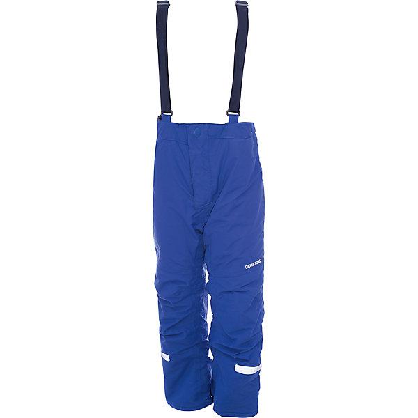 Брюки IDRE DIDRIKSONS для мальчикаВерхняя одежда<br>Характеристики товара:<br><br>• цвет: синий<br>• состав ткани: 100% полиамид<br>• подкладка: 100% полиэстер<br>• утеплитель: 100% полиэстер<br>• сезон: зима<br>• мембранная<br>• температурный режим: от -20 до 0<br>• водонепроницаемость: 6000 мм <br>• паропроницаемость: 4000 г/м2<br>• плотность утеплителя: 140г/м2<br>• швы проклеены<br>• регулируемые подтяжки и низ штанин<br>• фиксированные лямки<br>• снежные гетры с силиконовой резинкой<br>• штрипки<br>• застежка: молния<br>• светоотражающие детали<br>• конструкция позволяет увеличить длину штанин на один размер<br>• страна бренда: Швеция<br>• страна изготовитель: Китай<br><br>Детские брюки от известного шведского бренда теплые и легкие. Мембранные зимние брюки для ребенка отличаются продуманным дизайном. Непромокаемый и непродуваемый материал детских брюк легко чистится. Модные брюки для мальчика Didriksons рассчитаны на морозную погоду. <br><br>Брюки для мальчика Idre Didriksons (Дидриксонс) можно купить в нашем интернет-магазине.<br>Ширина мм: 215; Глубина мм: 88; Высота мм: 191; Вес г: 336; Цвет: синий; Возраст от месяцев: 18; Возраст до месяцев: 24; Пол: Мужской; Возраст: Детский; Размер: 90,100,80,140,130,120,110; SKU: 7045228;