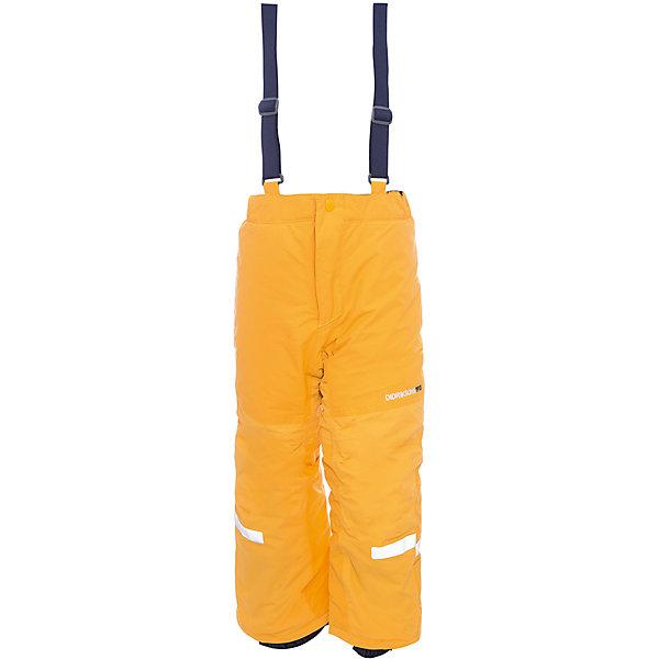 Брюки IDRE DIDRIKSONS для мальчикаВерхняя одежда<br>Характеристики товара:<br><br>• цвет: желтый<br>• состав ткани: 100% полиамид<br>• подкладка: 100% полиэстер<br>• утеплитель: 100% полиэстер<br>• сезон: зима<br>• мембранная<br>• температурный режим: от -20 до 0<br>• водонепроницаемость: 6000 мм <br>• паропроницаемость: 4000 г/м2<br>• плотность утеплителя: 140г/м2<br>• швы проклеены<br>• регулируемые подтяжки и низ штанин<br>• фиксированные лямки<br>• снежные гетры с силиконовой резинкой<br>• штрипки<br>• застежка: молния<br>• светоотражающие детали<br>• конструкция позволяет увеличить длину штанин на один размер<br>• страна бренда: Швеция<br>• страна изготовитель: Китай<br><br>Яркие зимние брюки для ребенка создают комфортные условия для тела. Непромокаемый и непродуваемый материал детских брюк легко чистится. Модные брюки для ребенка Didriksons рассчитаны на морозную погоду. Детские брюки от известного шведского бренда теплые и легкие. <br><br>Брюки для мальчика Idre Didriksons (Дидриксонс) можно купить в нашем интернет-магазине.<br>Ширина мм: 215; Глубина мм: 88; Высота мм: 191; Вес г: 336; Цвет: оранжевый; Возраст от месяцев: 12; Возраст до месяцев: 15; Пол: Мужской; Возраст: Детский; Размер: 80,140,130,120,110,100,90; SKU: 7045236;