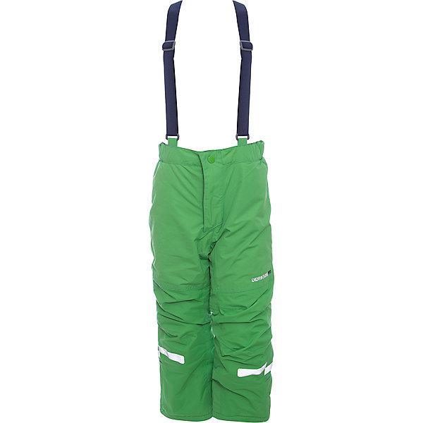 Брюки IDRE DIDRIKSONS для мальчикаВерхняя одежда<br>Характеристики товара:<br><br>• цвет: зеленый<br>• состав ткани: 100% полиамид<br>• подкладка: 100% полиэстер<br>• утеплитель: 100% полиэстер<br>• сезон: зима<br>• мембранная<br>• температурный режим: от -20 до 0<br>• водонепроницаемость: 6000 мм <br>• паропроницаемость: 4000 г/м2<br>• плотность утеплителя: 140г/м2<br>• швы проклеены<br>• регулируемые подтяжки и низ штанин<br>• фиксированные лямки<br>• снежные гетры с силиконовой резинкой<br>• штрипки<br>• застежка: молния<br>• светоотражающие детали<br>• конструкция позволяет увеличить длину штанин на один размер<br>• страна бренда: Швеция<br>• страна изготовитель: Китай<br><br>Оригинальные теплые брюки для ребенка Didriksons дополнены удобными подтяжками. Непромокаемый и непродуваемый материал детских брюк легко чистится. Детские брюки от известного шведского бренда теплые и легкие. Мембранные зимние брюки для ребенка отличаются продуманным дизайном. <br><br>Брюки Idre Didriksons (Дидриксонс) можно купить в нашем интернет-магазине.<br>Ширина мм: 215; Глубина мм: 88; Высота мм: 191; Вес г: 336; Цвет: зеленый; Возраст от месяцев: 12; Возраст до месяцев: 15; Пол: Мужской; Возраст: Детский; Размер: 80,140,130,120,110,100,90; SKU: 7045244;