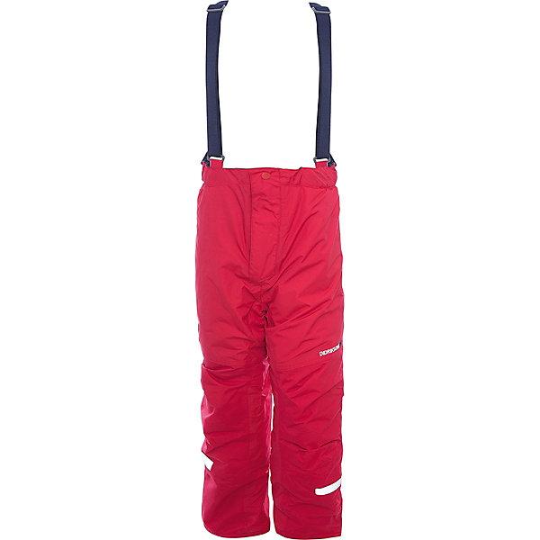 Брюки IDRE DIDRIKSONS1913 для мальчикаВерхняя одежда<br>Характеристики товара:<br><br>• цвет: красный<br>• состав ткани: 100% полиамид<br>• подкладка: 100% полиэстер<br>• утеплитель: 100% полиэстер<br>• сезон: зима<br>• мембранная<br>• температурный режим: от -20 до 0<br>• водонепроницаемость: 6000 мм <br>• паропроницаемость: 4000 г/м2<br>• плотность утеплителя: 140г/м2<br>• швы проклеены<br>• регулируемые подтяжки и низ штанин<br>• фиксированные лямки<br>• снежные гетры с силиконовой резинкой<br>• штрипки<br>• застежка: молния<br>• светоотражающие детали<br>• конструкция позволяет увеличить длину штанин на один размер<br>• страна бренда: Швеция<br>• страна изготовитель: Китай<br><br>Модные брюки для ребенка Didriksons можно при необходимости увеличить на один размер. Детские брюки от известного шведского бренда теплые и легкие. Яркие зимние брюки для ребенка создают комфортные условия для тела. Непромокаемый и непродуваемый материал детских брюк легко чистится. <br><br>Брюки для мальчика Idre Didriksons (Дидриксонс) можно купить в нашем интернет-магазине.<br>Ширина мм: 215; Глубина мм: 88; Высота мм: 191; Вес г: 336; Цвет: красный; Возраст от месяцев: 18; Возраст до месяцев: 24; Пол: Мужской; Возраст: Детский; Размер: 130,120,110,100,90; SKU: 7045260;