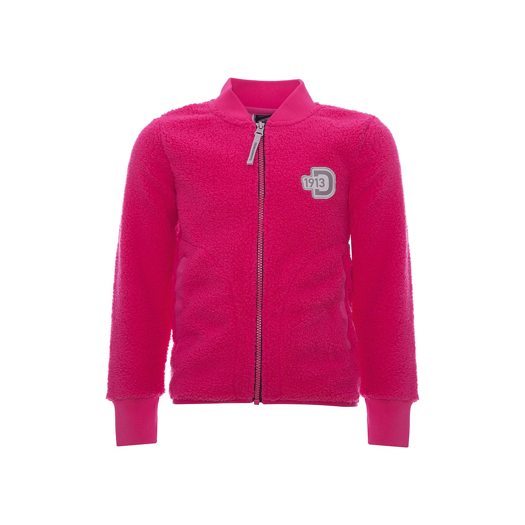 Куртка ORSA DIDRIKSONS для девочкиВерхняя одежда<br>Характеристики товара:<br><br>• цвет: фуксия<br>• состав ткани: 100% полиэстер (флис)<br>• утеплитель: нет<br>• сезон: демисезон<br>• теплоизоляционная<br>• застежка: молния<br>• страна бренда: Швеция<br>• страна изготовитель: Китай<br><br>Приятная на ощупь детская куртка обладает хорошими теплоизоляционными свойствами. Мягкая детская куртка может надеваться под верхнюю одежду для дополнительного утепления. Флисовая детская куртка легко надевается благодаря продуманному крою. Такая куртка для ребенка отличается комфортной посадкой. <br><br>Куртку для девочки Orsa Didriksons (Дидриксонс) можно купить в нашем интернет-магазине.<br><br>Ширина мм: 356<br>Глубина мм: 10<br>Высота мм: 245<br>Вес г: 519<br>Цвет: розовый<br>Возраст от месяцев: 108<br>Возраст до месяцев: 120<br>Пол: Женский<br>Возраст: Детский<br>Размер: 140,80,90,100,110,120,130<br>SKU: 7045306