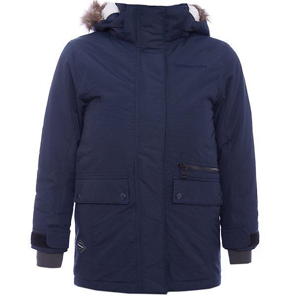 Куртка ZOE  DIDRIKSONSВерхняя одежда<br>Характеристики товара:<br><br>• цвет: синий<br>• состав ткани: 100% полиамид<br>• подкладка: 100% полиэстер<br>• утеплитель: 100% полиэстер<br>• сезон: зима<br>• мембранное покрытие<br>• температурный режим: от -20 до 0<br>• водонепроницаемость: 5000 мм <br>• паропроницаемость: 4000 г/м2<br>• плотность утеплителя: 200г/м2<br>• регулируемый съемный капюшон<br>• съемный искусственный мех на капюшоне<br>• внутренние эластичные манжеты<br>• регулируемые манжеты, талия и низ изделия<br>• подкладка на спинке из искусственного меха<br>• застежка: молния<br>• страна бренда: Швеция<br>• страна изготовитель: Китай<br><br>Детская куртка от известного шведского бренда теплая и легкая. Мембранная зимняя куртка для ребенка отличается продуманным дизайном. Непромокаемый и непродуваемый верх детской куртки не задерживает воздух. Модная куртка для ребенка Didriksons рассчитана даже на сильные морозы. <br><br>Куртку Zoe Didriksons (Дидриксонс) можно купить в нашем интернет-магазине.<br><br>Ширина мм: 356<br>Глубина мм: 10<br>Высота мм: 245<br>Вес г: 519<br>Цвет: голубой<br>Возраст от месяцев: 96<br>Возраст до месяцев: 108<br>Пол: Унисекс<br>Возраст: Детский<br>Размер: 130,170,160,150,140<br>SKU: 7045354