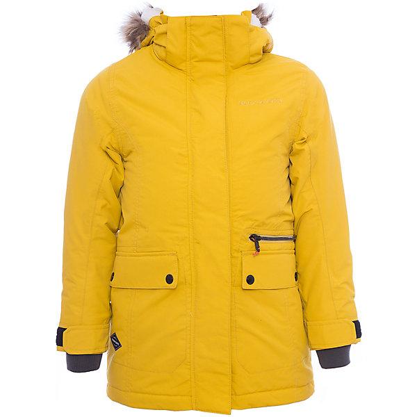 Куртка ZOE  DIDRIKSONS для девочкиВерхняя одежда<br>Характеристики товара:<br><br>• цвет: желтый<br>• состав ткани: 100% полиамид<br>• подкладка: 100% полиэстер<br>• утеплитель: 100% полиэстер<br>• сезон: зима<br>• мембранное покрытие<br>• температурный режим: от -20 до 0<br>• водонепроницаемость: 5000 мм <br>• паропроницаемость: 4000 г/м2<br>• плотность утеплителя: 200г/м2<br>• регулируемый съемный капюшон<br>• съемный искусственный мех на капюшоне<br>• внутренние эластичные манжеты<br>• регулируемые манжеты, талия и низ изделия<br>• подкладка на спинке из искусственного меха<br>• застежка: молния<br>• страна бренда: Швеция<br>• страна изготовитель: Китай<br><br>Такая мембранная теплая куртка одновременно удобная и стильная. Эта теплая куртка для девочки дополнена удобным капюшоном, планкой от ветра и карманами. Плотный верх детской зимней куртки не промокает и не продувается, его легко чистить. Такая мембранная детская куртка отлично подойдет для зимних морозов. <br><br>Куртку для девочки Zoe Didriksons (Дидриксонс) можно купить в нашем интернет-магазине.<br>Ширина мм: 356; Глубина мм: 10; Высота мм: 245; Вес г: 519; Цвет: желтый; Возраст от месяцев: 132; Возраст до месяцев: 144; Пол: Женский; Возраст: Детский; Размер: 150,130,170,160,140; SKU: 7045360;