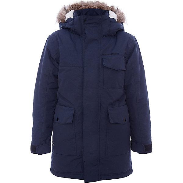 Куртка MATT  DIDRIKSONSВерхняя одежда<br>Характеристики товара:<br><br>• цвет: синий<br>• состав ткани: 100% полиамид<br>• подкладка: 100% полиэстер<br>• утеплитель: 100% полиэстер<br>• сезон: зима<br>• мембранное покрытие<br>• температурный режим: от -20 до 0<br>• водонепроницаемость: 5000 мм <br>• паропроницаемость: 4000 г/м2<br>• плотность утеплителя: 200г/м2<br>• регулируемый съемный капюшон<br>• съемный искусственный мех на капюшоне<br>• внутренние эластичные манжеты<br>• регулируемые манжеты, талия и низ изделия<br>• подкладка на спинке из искусственного меха<br>• застежка: молния<br>• страна бренда: Швеция<br>• страна изготовитель: Китай<br><br>Детская куртка от известного шведского бренда сделана с применением мембранной технологии. Эта зимняя куртка для ребенка отличается продуманным дизайном. Непромокаемый и непродуваемый верх детской куртки не задерживает воздух. Модная куртка для ребенка Didriksons рассчитана даже на сильные морозы. <br><br>Куртку Matt Didriksons (Дидриксонс) можно купить в нашем интернет-магазине.<br><br>Ширина мм: 356<br>Глубина мм: 10<br>Высота мм: 245<br>Вес г: 519<br>Цвет: голубой<br>Возраст от месяцев: 108<br>Возраст до месяцев: 120<br>Пол: Унисекс<br>Возраст: Детский<br>Размер: 140,170,160,150,130<br>SKU: 7045372
