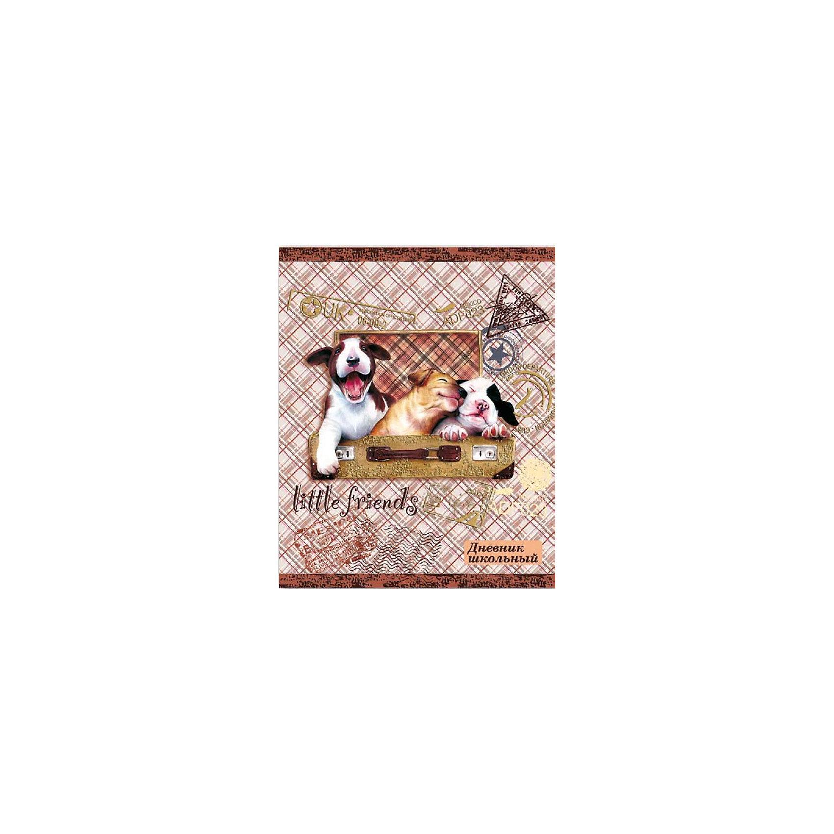 Дневник школьный Щенки в чемодане Феникс+Бумажная продукция<br>Дневник шк. ЩЕНКИ В ЧЕМОДАНЕ (7БЦ с печатью по ткани, тисн. шоколадной фольгой, 96 стр. Цв. запечатка форзаца)<br><br>Ширина мм: 210<br>Глубина мм: 170<br>Высота мм: 10<br>Вес г: 220<br>Возраст от месяцев: 72<br>Возраст до месяцев: 2147483647<br>Пол: Унисекс<br>Возраст: Детский<br>SKU: 7046172