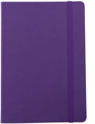 Записная книга на резинке Феникс+, фиолетовый