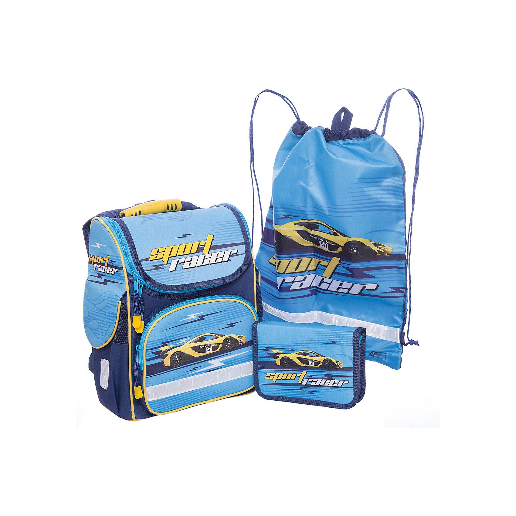 Ранец с наполнением Желтое авто  Феникс+Ранцы<br>Набор для школьника ЖЕЛТОЕ АВТО (ранец (полиэстер), пенал (без наполнения), мешок для обуви: (ранец: 35x26x15см,  пенал: 20x13.3x3.5см, мешок для обуви: 36x48см. Набор в подарочной картонной коробке с ПВХ-окном)<br><br>Ширина мм: 300<br>Глубина мм: 190<br>Высота мм: 370<br>Вес г: 1450<br>Возраст от месяцев: 72<br>Возраст до месяцев: 2147483647<br>Пол: Унисекс<br>Возраст: Детский<br>SKU: 7046253