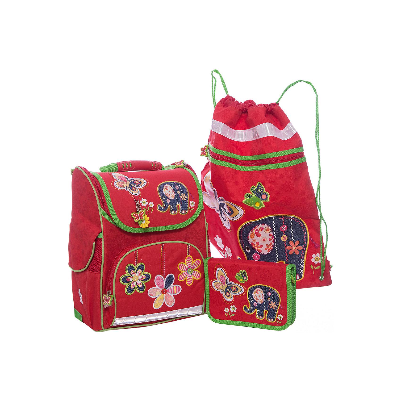 Набор для школьницы Слоник Феникс+Ранцы<br>Набор для школьницы СЛОНИК (ранец, пенал (без наполнения), мешок для обуви в подарочной картонной коробке с ПВХ-окошком (полиэстер): (ранец: 35x26x15см,  пенал: 20x13.3x3.5см, мешок для обуви: 36x48см)<br><br>Ширина мм: 300<br>Глубина мм: 190<br>Высота мм: 370<br>Вес г: 1700<br>Возраст от месяцев: 72<br>Возраст до месяцев: 2147483647<br>Пол: Женский<br>Возраст: Детский<br>SKU: 7046256