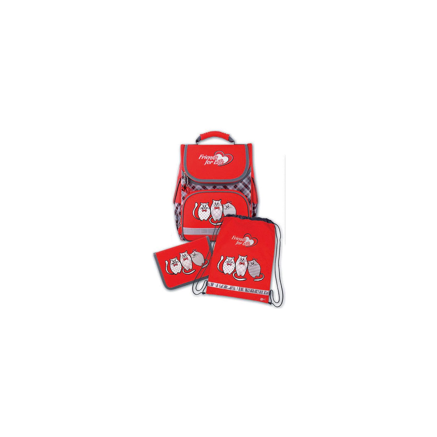 Набор для школьницы Три кота Феникс+Ранцы<br>Набор для школьницы ТРИ КОТА (ранец (полиэстер), пенал (без наполнения), мешок для обуви: (ранец: 35x26x15см,  пенал: 20x13.3x3.5см, мешок для обуви: 36x48см. Набор в подарочной картонной коробке с ПВХ-окном)<br><br>Ширина мм: 300<br>Глубина мм: 190<br>Высота мм: 370<br>Вес г: 1568<br>Возраст от месяцев: 72<br>Возраст до месяцев: 2147483647<br>Пол: Женский<br>Возраст: Детский<br>SKU: 7046258