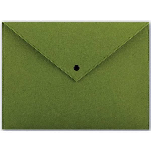 Папка для документов Феникс+, зеленая