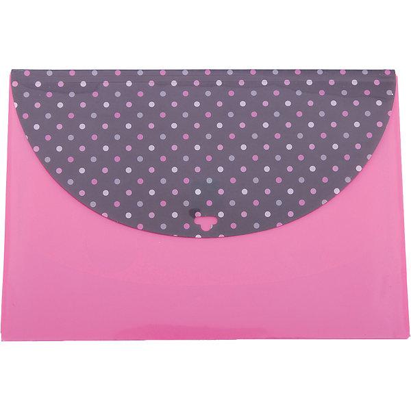 Папка для документов Феникс+, розовый горошек