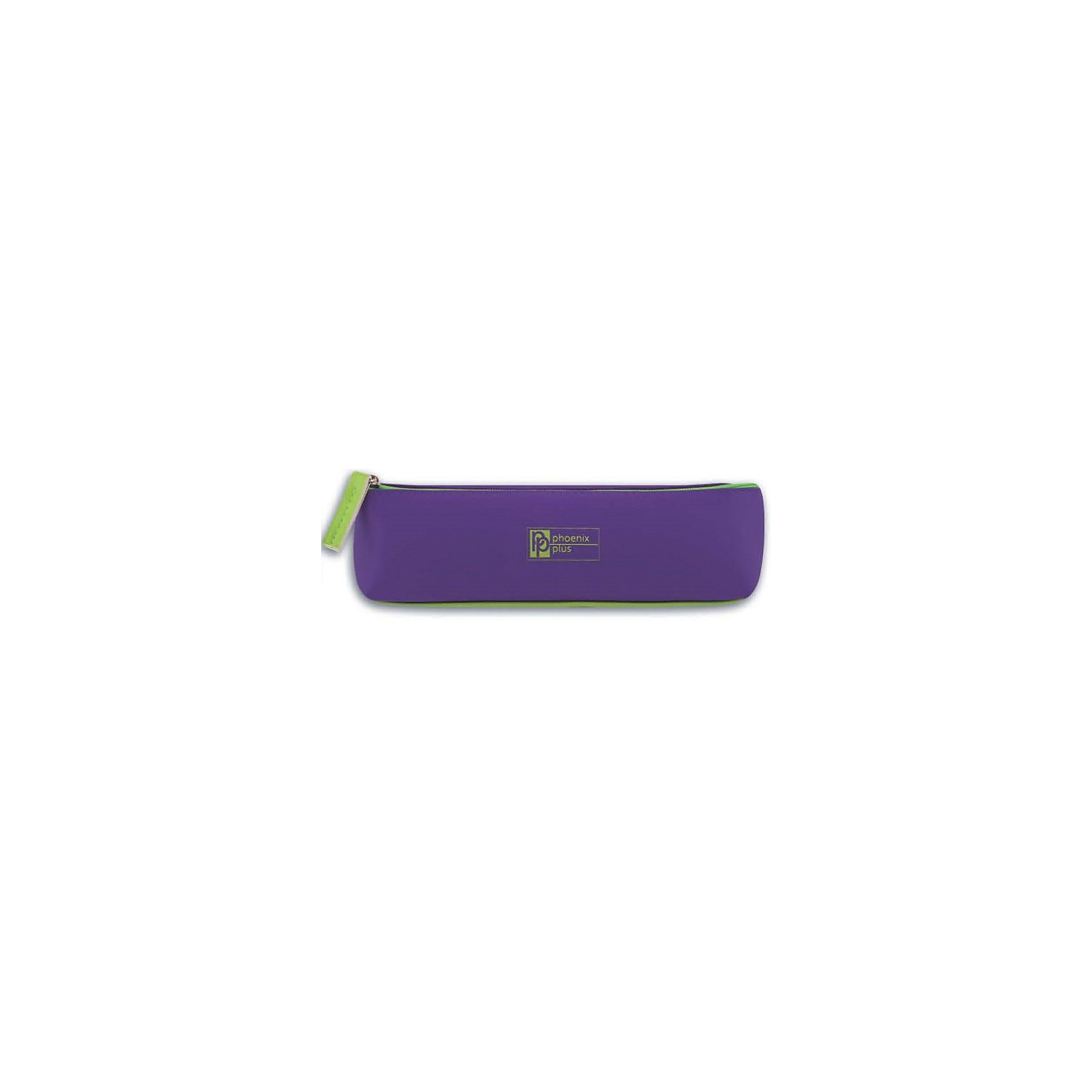 Пенал школьный Феникс+, фиолетовый и салатовыйПеналы без наполнения<br>Пенал школьный ФИОЛЕТОВЫЙ И САЛАТОВЫЙ (без наполнения, 19х5,5x5см, кожзам., застеж.-молния, инд. ПЭТ-упак.)<br><br>Ширина мм: 210<br>Глубина мм: 50<br>Высота мм: 50<br>Вес г: 40<br>Возраст от месяцев: 72<br>Возраст до месяцев: 2147483647<br>Пол: Унисекс<br>Возраст: Детский<br>SKU: 7046363