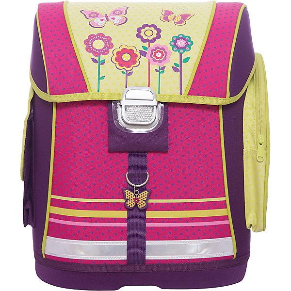 Купить Ранец школьный Бабочки и цветы Феникс+, Китай, Унисекс