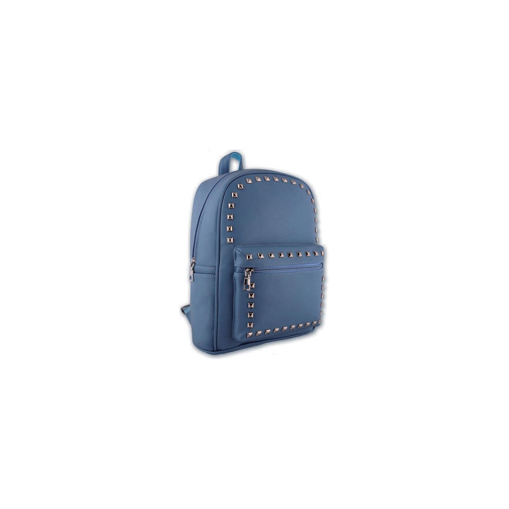 Рюкзак молодежный Феникс+, голубой с клепкамиРюкзаки<br>Рюкзак молодежный ГОЛУБОЙ С КЛЕПКАМИ (35х26х16см, кожзам, уплотн. лямки с регулировкой, декор. метал. заклепками, 1 фронт. и 2 бок. кармана, индив. ПЭТ-пакет)<br><br>Ширина мм: 350<br>Глубина мм: 260<br>Высота мм: 160<br>Вес г: 680<br>Возраст от месяцев: 72<br>Возраст до месяцев: 2147483647<br>Пол: Унисекс<br>Возраст: Детский<br>SKU: 7046420