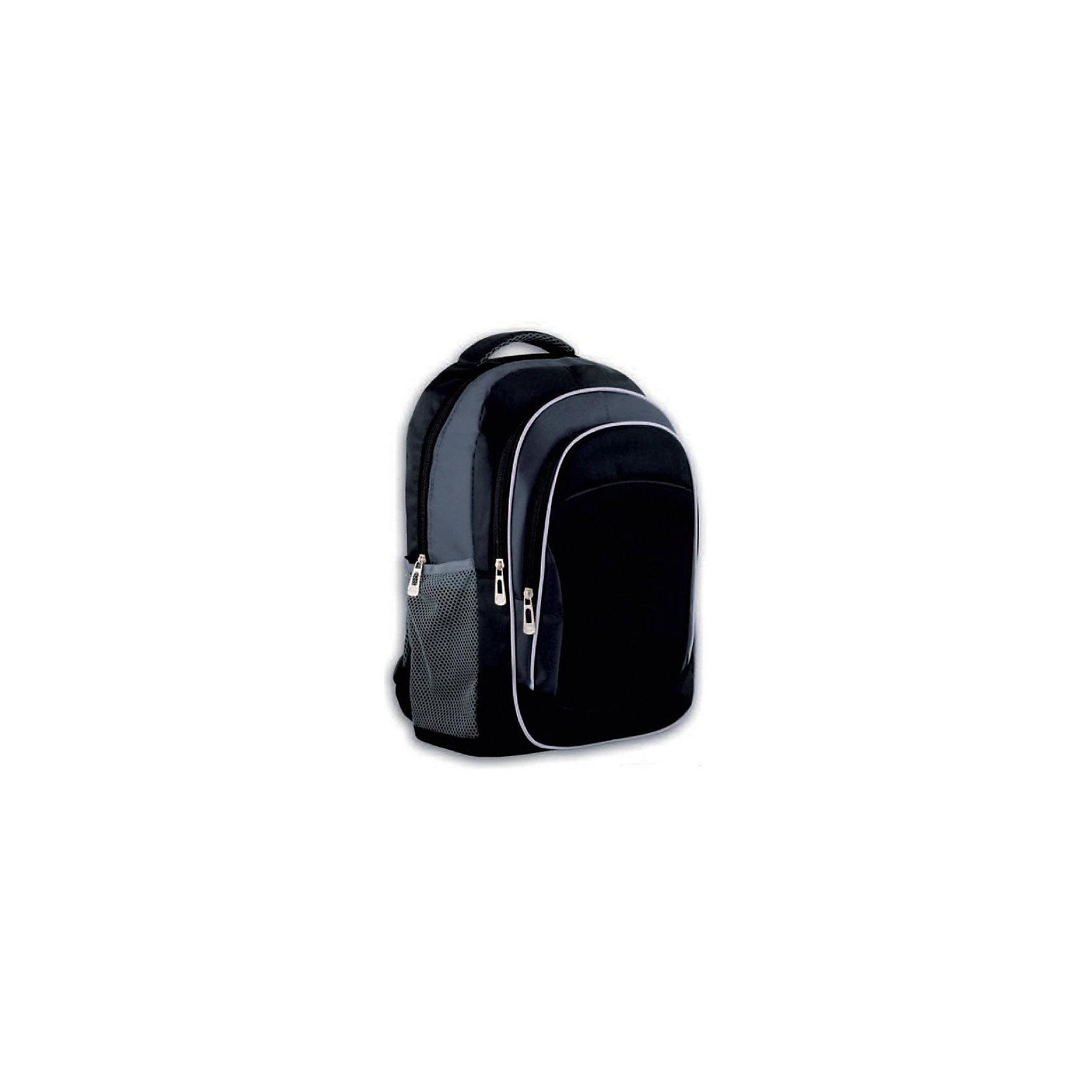 Рюкзак молодежный Феникс+, черный + серыйРюкзаки<br>Рюкзак молодежный ЧЕРНЫЙ + СЕРЫЙ (44х31х13см, полиэстер, светоотраж. элементы, уплотн. лямки с регулировкой, 2 фронт. и 2 бок. кармана, индив. ПЭТ-пакет)<br><br>Ширина мм: 450<br>Глубина мм: 290<br>Высота мм: 25<br>Вес г: 425<br>Возраст от месяцев: 72<br>Возраст до месяцев: 2147483647<br>Пол: Унисекс<br>Возраст: Детский<br>SKU: 7046421