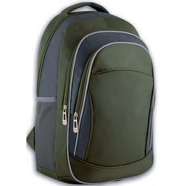 Рюкзак молодежный Феникс+, хаки + серыйРюкзаки<br>Рюкзак молодежный  ХАКИ + СЕРЫЙ (44х31х13см, полиэстер, светоотраж. элементы, уплотн. лямки с регулировкой, 2 фронт. и 2 бок. кармана, индив. ПЭТ-пакет)<br><br>Ширина мм: 450<br>Глубина мм: 290<br>Высота мм: 25<br>Вес г: 425<br>Возраст от месяцев: 72<br>Возраст до месяцев: 2147483647<br>Пол: Унисекс<br>Возраст: Детский<br>SKU: 7046422