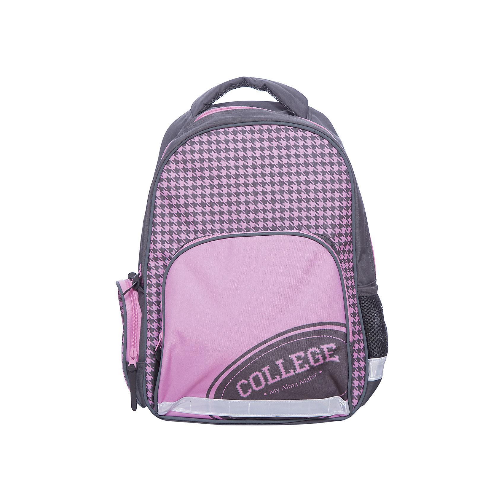 Рюкзак школьный КолледжФеникс+Рюкзаки<br>Рюкзак школьный КОЛЛЕДЖ (36x29x13см, полиэстер, уплотнен. спинка и дно, светоотраж. элементы, сублимация, 1 фронт. и 2 бок. кармана, карабин д/ключей, индивид. ПЭТ-упак.)<br><br>Ширина мм: 440<br>Глубина мм: 340<br>Высота мм: 70<br>Вес г: 505<br>Возраст от месяцев: 72<br>Возраст до месяцев: 2147483647<br>Пол: Унисекс<br>Возраст: Детский<br>SKU: 7046430