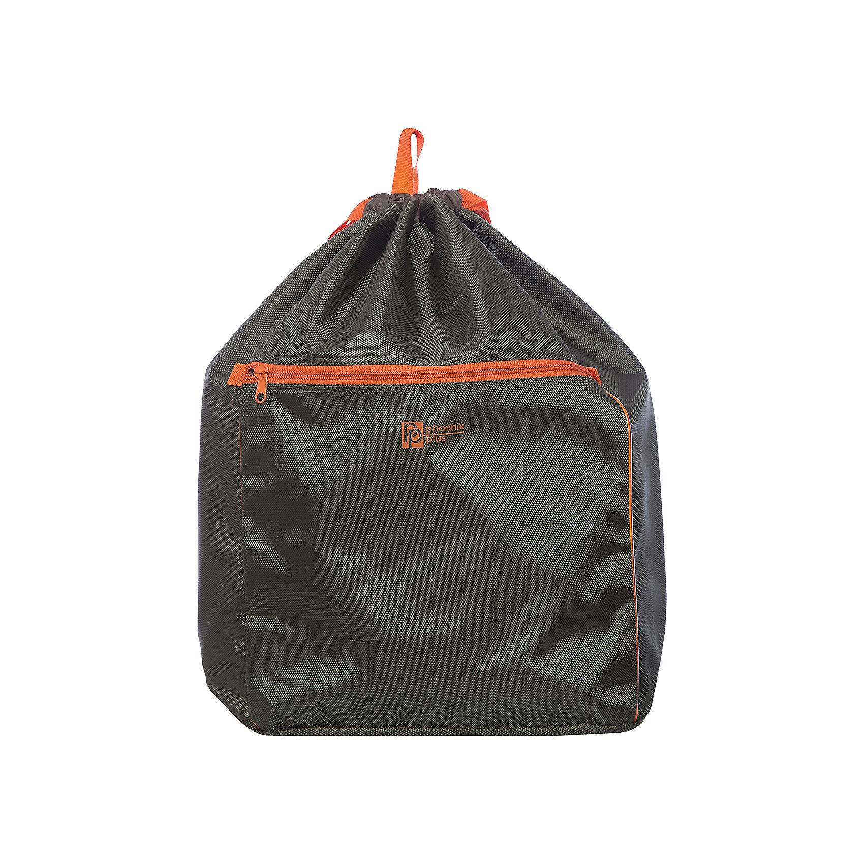 Рюкзак-мешок Феникс+, зеленыйРюкзаки<br>Рюкзак-мешок ЗЕЛЕНЫЙ (52х34х22см, полиэстер-жаккард плотн. 1680D, объемный карман на молнии, цв. фотоотраж. эл-ты, ручка-петля, плотные лямки)<br><br>Ширина мм: 520<br>Глубина мм: 340<br>Высота мм: 22<br>Вес г: 275<br>Возраст от месяцев: 72<br>Возраст до месяцев: 2147483647<br>Пол: Унисекс<br>Возраст: Детский<br>SKU: 7046437