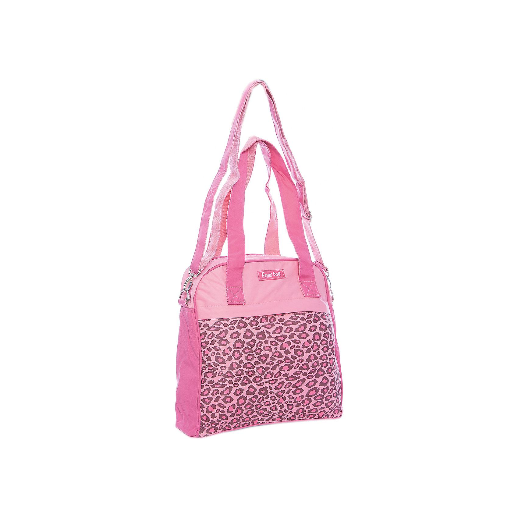 Сумка Принт леопард Феникс+, розоваяДетские сумки<br>Сумка д/девочек ПРИНТ ЛЕОПАРД (РОЗОВАЯ) (31х29х10см, полиэстер, запечатка, ручки, регулир. плечевой ремень, карманы)<br><br>Ширина мм: 310<br>Глубина мм: 290<br>Высота мм: 100<br>Вес г: 305<br>Возраст от месяцев: 72<br>Возраст до месяцев: 2147483647<br>Пол: Женский<br>Возраст: Детский<br>SKU: 7046449