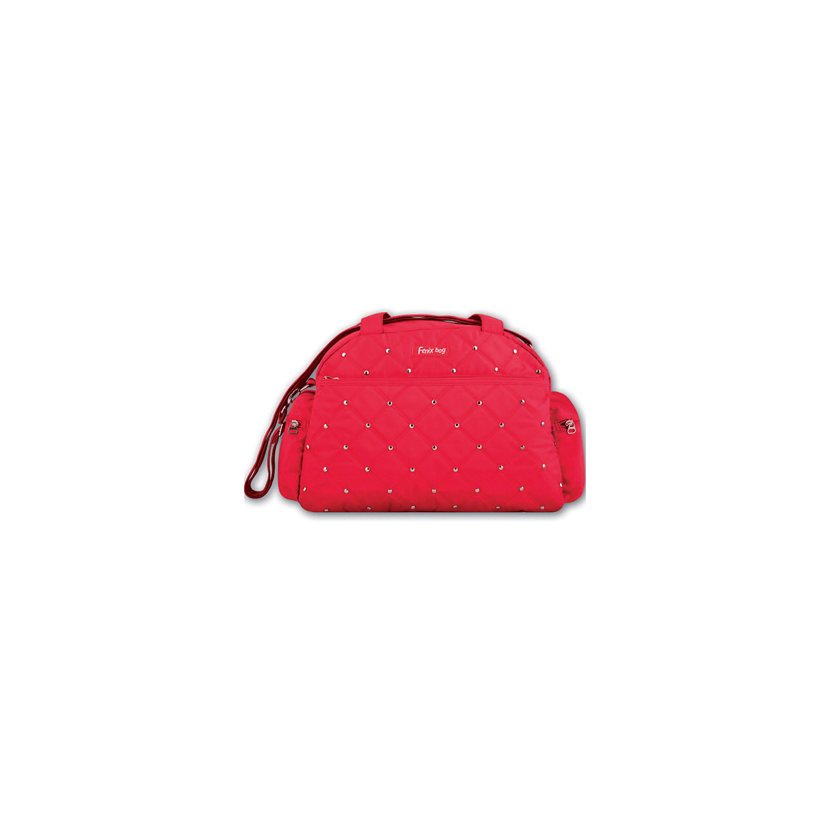 Сумка Феникс+, красная с клепкамиДетские сумки<br>Сумка д/девочек КРАСНАЯ С КЛЕПКАМИ (39х27х14см, полиэстер, метал.клепки, ручки, регулир. плечевой ремень, карманы)<br><br>Ширина мм: 390<br>Глубина мм: 270<br>Высота мм: 140<br>Вес г: 330<br>Возраст от месяцев: 72<br>Возраст до месяцев: 2147483647<br>Пол: Женский<br>Возраст: Детский<br>SKU: 7046451