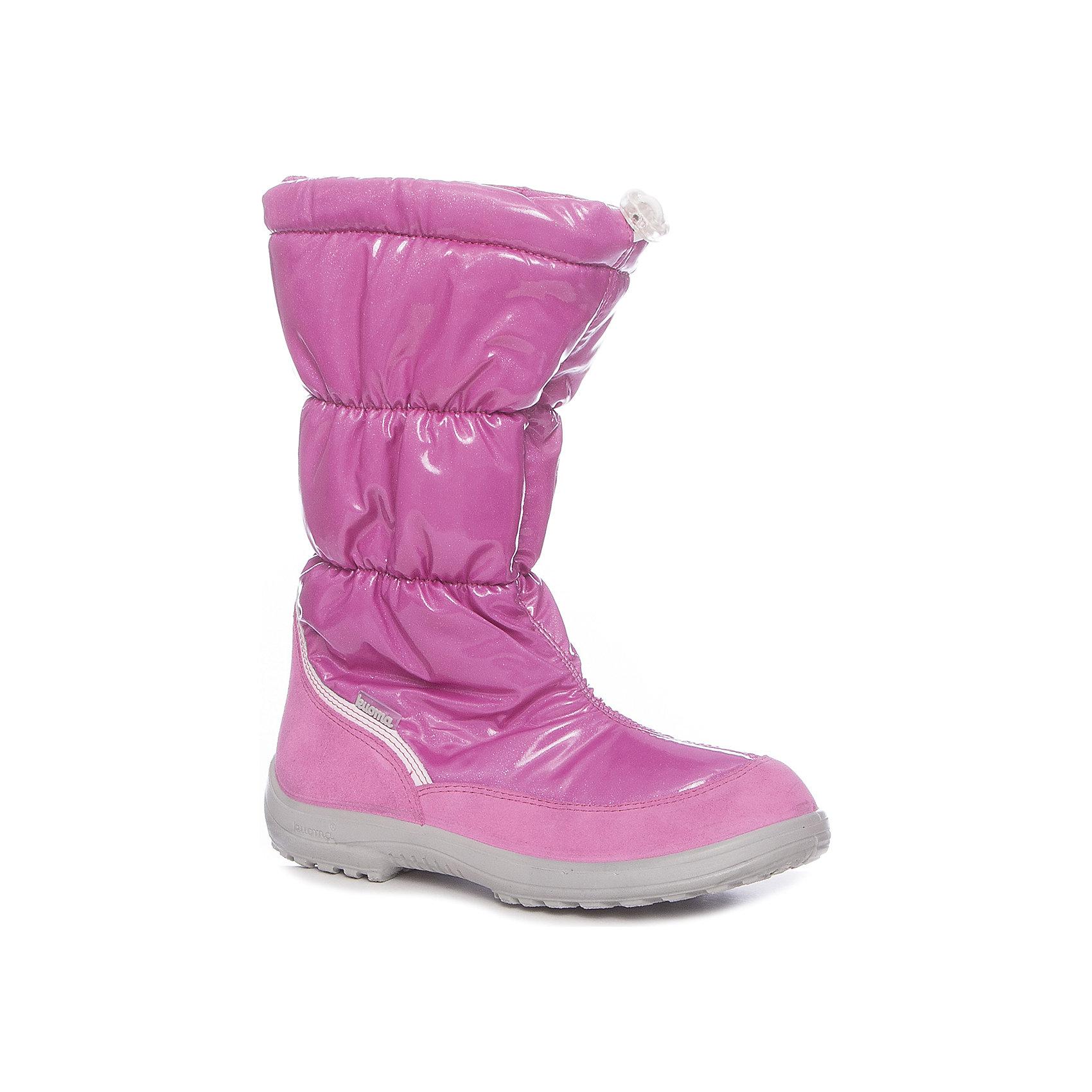 Дутики Gloria Kuoma для девочкиДутики<br>Характеристики товара:<br><br>• цвет: розовый<br>• внешний материал: полиамид<br>• внутренний материал: искусственный мех<br>• стелька: искусственный мех<br>• подошва: полиуретан<br>• сезон: зима<br>• температурный режим: от -35 до -5<br>• особенности модели: лакированные<br>• застежка: утяжка<br>• анатомические <br>• подошва не скользит<br>• высокие<br>• защита мыса<br>• страна бренда: Финляндия<br>• страна изготовитель: Финляндия<br><br>Яркие теплые дутики для девочки Куома имеют подкладку и стельку, оптимальные для возраста ребенка. Легкая толстая подошва помогает сохранить детским сапогам тепло. Хороший протектор обеспечит устойчивость ребенка в зимних дутиках для девочки от финского бренда Kuoma. <br><br>Дутики для девочки Gloria Kuoma (Куома) можно купить в нашем интернет-магазине.<br><br>Ширина мм: 257<br>Глубина мм: 180<br>Высота мм: 130<br>Вес г: 420<br>Цвет: розовый<br>Возраст от месяцев: 156<br>Возраст до месяцев: 1188<br>Пол: Женский<br>Возраст: Детский<br>Размер: 38,30,26,27,28,29,31,32,33,34,35,36,37<br>SKU: 7047873
