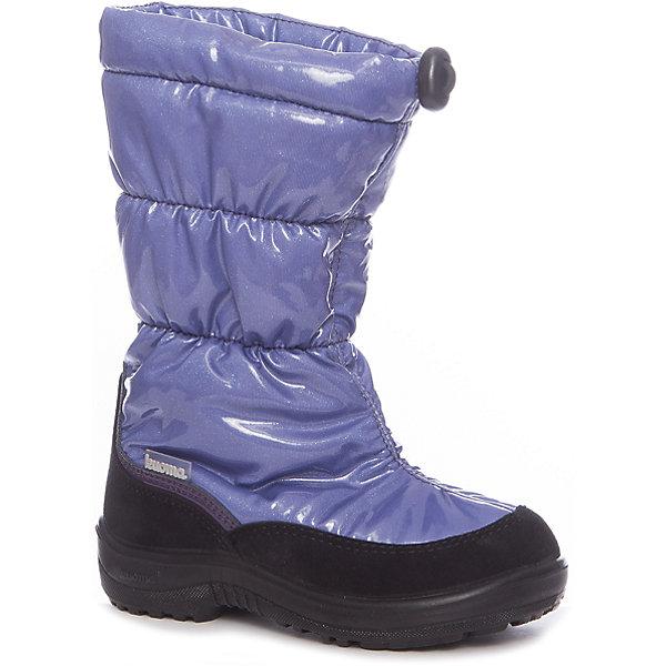 Дутики Gloria Kuoma для девочкиДутики<br>Характеристики товара:<br><br>• цвет: синий<br>• внешний материал: полиамид<br>• внутренний материал: искусственный мех<br>• стелька: искусственный мех<br>• подошва: полиуретан<br>• сезон: зима<br>• температурный режим: от -35 до -5<br>• особенности модели: лакированные<br>• застежка: утяжка<br>• анатомические <br>• подошва не скользит<br>• высокие<br>• защита мыса<br>• страна бренда: Финляндия<br>• страна изготовитель: Финляндия<br><br>Синие дутики для девочки имеют легкую устойчивую подошву. Удобные зимние сапоги утеплены искусственной шерстью. Высокое голенище детских сапог защищает от грязи, влаги и холода. <br><br>Дутики для девочки Gloria Kuoma (Куома) можно купить в нашем интернет-магазине.<br>Ширина мм: 257; Глубина мм: 180; Высота мм: 130; Вес г: 420; Цвет: сиреневый; Возраст от месяцев: 24; Возраст до месяцев: 36; Пол: Женский; Возраст: Детский; Размер: 29,30,26,31,32,33,34,35,36,37,38,27,28; SKU: 7047887;