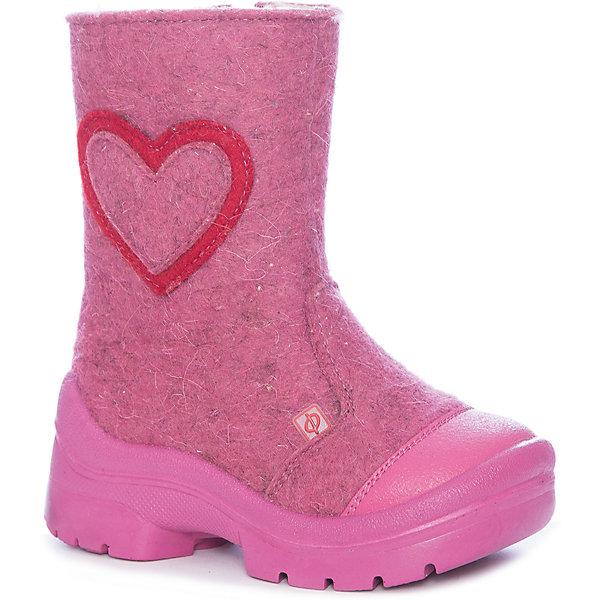 Валенки Сердце Филипок для девочкиВаленки<br>Характеристики товара:<br><br>• цвет: розовый<br>• внешний материал: шерстяной войлок<br>• внутренний материал: шерстяной мех<br>• стелька: шерсть<br>• подошва: полиуретан<br>• сезон: зима<br>• температурный режим: от -20 до +5<br>• застежка: молния<br>• анатомические <br>• защита мыса<br>• страна бренда: Беларусь<br>• страна изготовитель: Беларусь<br><br>Яркие валенки для ребенка - отличный вариант обуви для русской зимы. Теплые валенки для ребенка Филипок легко надеваются благодаря удобной застежке. Эти детские валенки украшены аппликацией. Практичные детские валенки от известного белорусского бренда помогает ногам оставаться в тепле и сухости. <br><br>Валенки для девочки Сердце Филипок можно купить в нашем интернет-магазине.<br>Ширина мм: 257; Глубина мм: 180; Высота мм: 130; Вес г: 420; Цвет: розовый; Возраст от месяцев: 72; Возраст до месяцев: 84; Пол: Женский; Возраст: Детский; Размер: 30,31,29,28,27,26,25,24,32; SKU: 7048913;