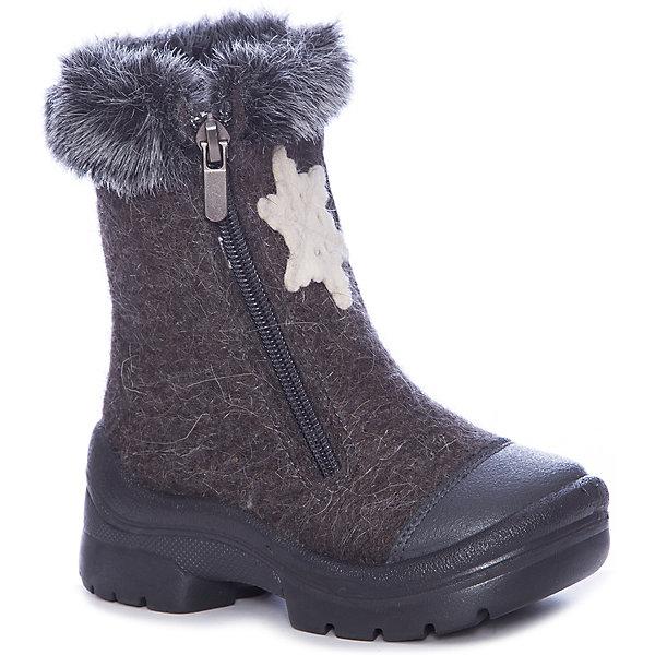 Валенки Зимний вечер Филипок для мальчикаВаленки<br>Характеристики товара:<br><br>• цвет: серый<br>• внешний материал: шерстяной войлок<br>• внутренний материал: шерстяной мех<br>• стелька: шерсть<br>• подошва: полиуретан<br>• сезон: зима<br>• температурный режим: от -20 до +5<br>• застежка: молния<br>• анатомические <br>• защита мыса<br>• страна бренда: Беларусь<br>• страна изготовитель: Беларусь<br><br>Теплые детские валенки хорошо держатся на ноге. Валенки для ребенка помогут согреть ноги даже в сильные морозы. Теплые детские валенки декорированы аппликацией. Такие валенки для мальчика Филипок легко надеваются благодаря молнии. <br><br>Валенки для мальчика Зимний вечер Филипок можно купить в нашем интернет-магазине.<br>Ширина мм: 257; Глубина мм: 180; Высота мм: 130; Вес г: 420; Цвет: серый; Возраст от месяцев: 48; Возраст до месяцев: 60; Пол: Мужской; Возраст: Детский; Размер: 28,31,32,30,29,27,26,25,24; SKU: 7049043;