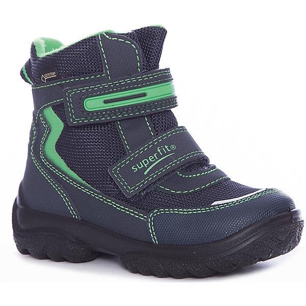 Ботинки Superfit для мальчикаБотинки<br>Характеристики товара:<br><br>• цвет: синий/зеленый<br>• внешний материал: текстиль<br>• внутренний материал: текстиль<br>• стелька: шерсть<br>• подошва: полимер<br>• сезон: зима<br>• мембранные<br>• температурный режим: от +5 до -25<br>• особенности модели: спортивный стиль<br>• застежка: липучка<br>• защита мыса <br>• анатомические <br>• подошва не скользит<br>• страна бренда: Австрия<br>• страна изготовитель: Румыния<br><br>Зимние сапоги с мембраной Gore-Tex имеют устойчивую подошву и удобную застежку. Сапоги для мальчика Superfit легко надеваются и хорошо держатся на ноге благодаря надежной липучке. <br><br>Сапоги для мальчика Superfit (Суперфит) можно купить в нашем интернет-магазине.<br><br>Ширина мм: 257<br>Глубина мм: 180<br>Высота мм: 130<br>Вес г: 420<br>Цвет: синий<br>Возраст от месяцев: 21<br>Возраст до месяцев: 24<br>Пол: Мужской<br>Возраст: Детский<br>Размер: 33,32,31,28,27,26,25,30,29,24,35,34<br>SKU: 7051007