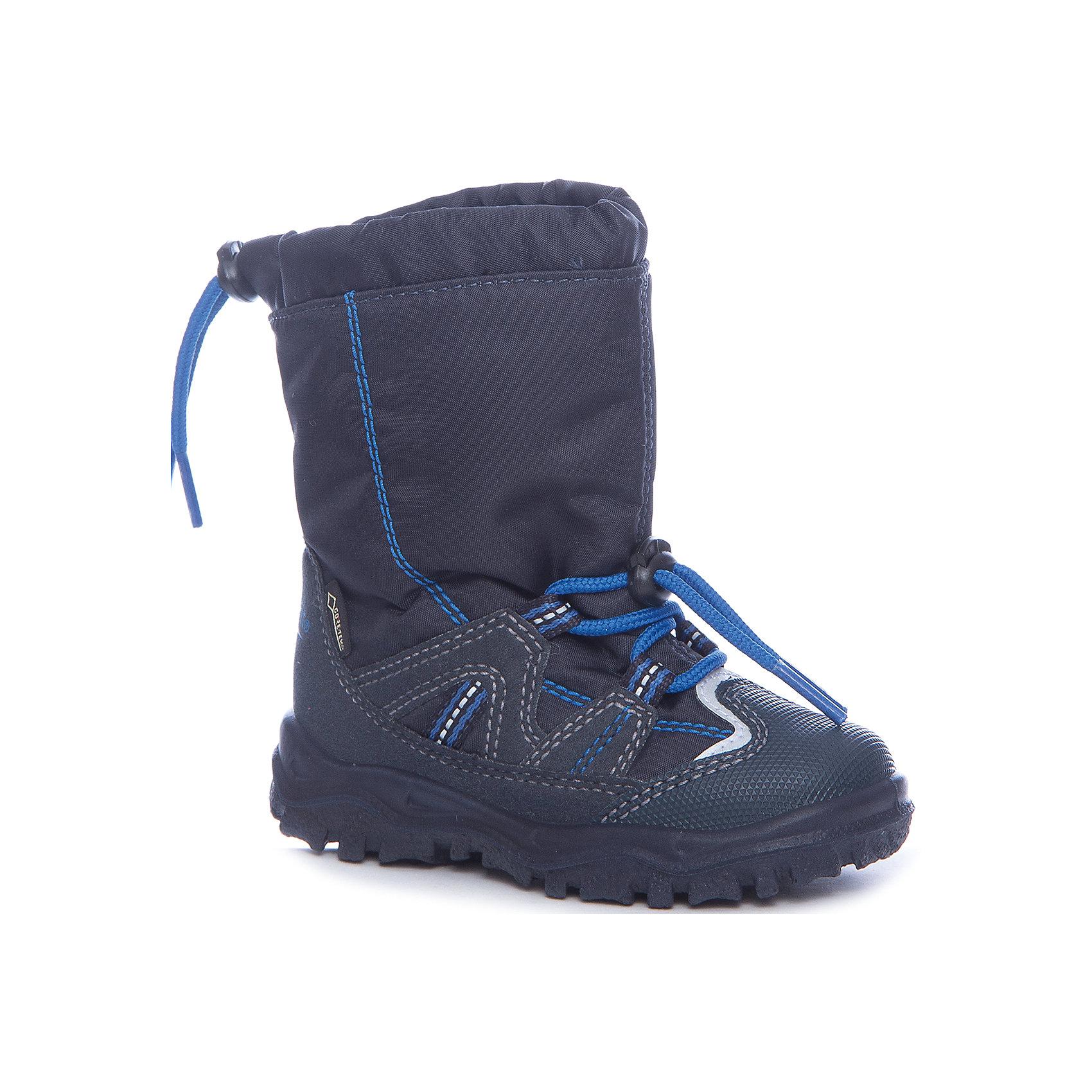 Сапоги Superfit для мальчикаСапоги<br>Характеристики товара:<br><br>• цвет: синий<br>• внешний материал: текстиль<br>• внутренний материал: текстиль<br>• стелька: шерсть<br>• подошва: полимер<br>• сезон: зима<br>• мембранные<br>• температурный режим: от +5 до -25<br>• особенности модели: спортивный стиль<br>• застежка: утяжка<br>• защита мыса <br>• анатомические <br>• подошва не скользит<br>• страна бренда: Австрия<br>• страна изготовитель: Румыния<br><br>Такая модель детской обуви создана с учетом особенностей строения ноги ребенка. Зимние сапоги удобные и износостойкие. Стильные мембранные сапоги Superfit - пример качественной и красивой австрийской обуви. <br><br>Сапоги для девочки Superfit (Суперфит) можно купить в нашем интернет-магазине.<br><br>Ширина мм: 257<br>Глубина мм: 180<br>Высота мм: 130<br>Вес г: 420<br>Цвет: синий<br>Возраст от месяцев: 15<br>Возраст до месяцев: 18<br>Пол: Мужской<br>Возраст: Детский<br>Размер: 22,30,23,26,27,24,28,29,25<br>SKU: 7051066