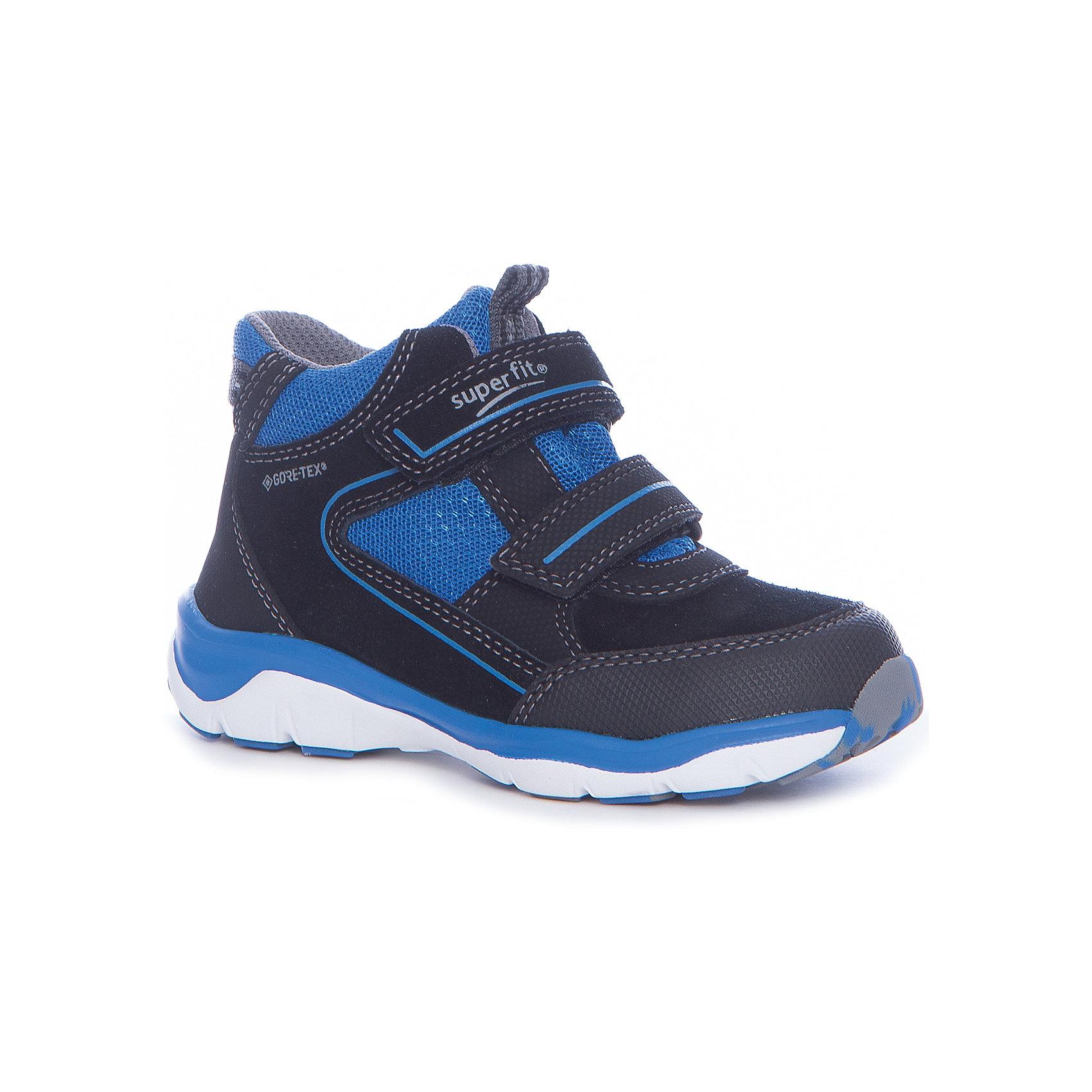 Ботинки Superfit для мальчикаБотинки<br>Характеристики товара:<br><br>• цвет: синий<br>• внешний материал: замша, текстиль<br>• внутренний материал: текстиль<br>• стелька: кожа<br>• подошва: полимер<br>• сезон: демисезон<br>• мембранные<br>• температурный режим: от -10 до +10<br>• особенности модели: спортивный стиль<br>• застежка: липучка<br>• защита мыса <br>• анатомические <br>• подошва не скользит<br>• страна бренда: Австрия<br>• страна изготовитель: Вьетнам<br><br>Синие мембранные ботинки сделаны из прочных качественных материалов. Они имеют устойчивую подошву и удобную застежку. Ботинки для мальчика Superfit легко надеваются и хорошо держатся на ноге благодаря надежной липучке. <br><br>Обувь Superfit не требует сложного ухода. Большинство загрязнений легко удаляются влажной губкой, сильные загрязнения можно смыть под струей воды сразу после прогулки.<br><br>Ботинки для мальчика Superfit (Суперфит) можно купить в нашем интернет-магазине.<br><br>Ширина мм: 262<br>Глубина мм: 176<br>Высота мм: 97<br>Вес г: 427<br>Цвет: черный<br>Возраст от месяцев: 21<br>Возраст до месяцев: 24<br>Пол: Мужской<br>Возраст: Детский<br>Размер: 24,32,26,25,27,28,29,30,31<br>SKU: 7051188