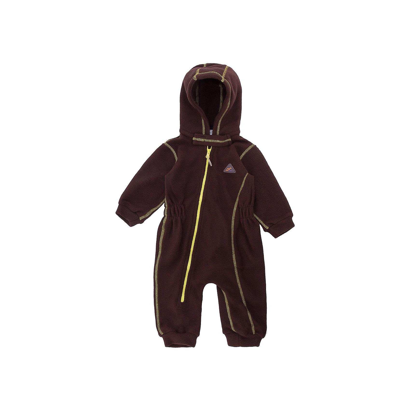 Комбинезон для малышей Шоколад ЛисФлис для мальчикаФлис и термобелье<br>Характеристики товара:<br><br>• цвет: коричневый;<br>• состав: 100% полиэстер, флис;<br>• сезон: зима;<br>• особенности: флисовый, с капюшоном;<br>• застежка: молния по диагонали;<br>• защита подбородка от защемления;<br>• эластичные манжеты на рукавах и штанинах;<br>• страна бренда: Россия;<br>• страна производства: Россия.<br><br>Флисовый комбинезон на молнии. Изделие можно одевать как поддеву (дополнительный утепляющий слой) под мембранную одежду при минусовой температуре. А как самостоятельный элемент одежды (верхний слой) от +10 градусов. Прочная молния комбинезона расстегивается и застегивается одним движением руки. Флисовый комбинезон с капюшоном.<br><br>Комбинезон для малышей Шоколад ЛисФлис можно купить в нашем интернет-магазине.<br><br>Ширина мм: 356<br>Глубина мм: 10<br>Высота мм: 245<br>Вес г: 519<br>Цвет: желтый<br>Возраст от месяцев: 12<br>Возраст до месяцев: 15<br>Пол: Мужской<br>Возраст: Детский<br>Размер: 62,68,74,80<br>SKU: 7052640