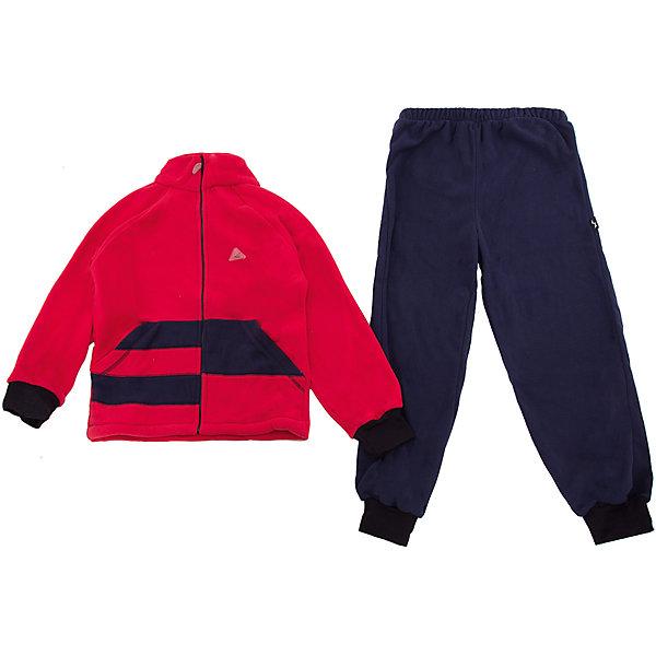 Комплект Полоска ЛисФлисФлис и термобелье<br>Характеристики товара:<br><br>• цвет: красный/синий;<br>• состав: 100% полиэстер, флис (180 гр);<br>• сезон: зима;<br>• особенности: флисовый, без капюшона;<br>• застежка: молния;<br>• защита подбородка от защемления;<br>• эластичные манжеты на рукавах и штанинах;<br>• штаны на резинке;<br>• два прорезных кармана;<br>• страна бренда: Россия;<br>• страна производства: Россия.<br><br>Флисовый комплект на молнии. Изделие можно одевать как поддеву (дополнительный утепляющий слой) под мембранную одежду при минусовой температуре. А как самостоятельный элемент одежды (верхний слой) от +10 градусов. Прочная молния комбинезона расстегивается и застегивается одним движением руки. Флисовый комплект, кофта на молнии, без капюшона, штаны на резинке.<br><br>Комплект Полоска ЛисФлис можно купить в нашем интернет-магазине.<br><br>Ширина мм: 190<br>Глубина мм: 74<br>Высота мм: 229<br>Вес г: 236<br>Цвет: красный<br>Возраст от месяцев: 12<br>Возраст до месяцев: 15<br>Пол: Унисекс<br>Возраст: Детский<br>Размер: 80,146,140,134,128,122,116,110,104,98,92,86<br>SKU: 7052760