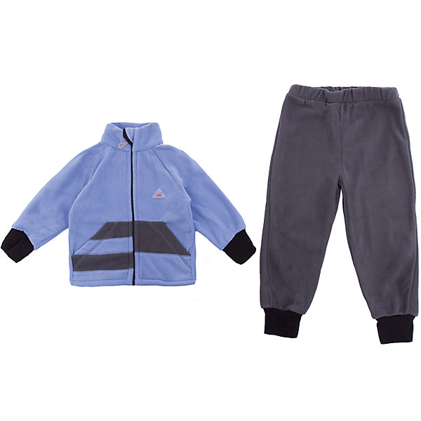 Комплект Полоска ЛисФлис для мальчикаФлис и термобелье<br>Характеристики товара:<br><br>• цвет: голубой/серый;<br>• состав: 100% полиэстер, флис (180 гр);<br>• сезон: зима;<br>• особенности: флисовый, без капюшона;<br>• застежка: молния;<br>• защита подбородка от защемления;<br>• эластичные манжеты на рукавах и штанинах;<br>• штаны на резинке;<br>• два прорезных кармана;<br>• страна бренда: Россия;<br>• страна производства: Россия.<br><br>Флисовый комплект на молнии. Изделие можно одевать как поддеву (дополнительный утепляющий слой) под мембранную одежду при минусовой температуре. А как самостоятельный элемент одежды (верхний слой) от +10 градусов. Прочная молния комбинезона расстегивается и застегивается одним движением руки. Флисовый комплект, кофта на молнии, без капюшона, штаны на резинке.<br><br>Комплект Полоска ЛисФлис можно купить в нашем интернет-магазине.<br><br>Ширина мм: 190<br>Глубина мм: 74<br>Высота мм: 229<br>Вес г: 236<br>Цвет: голубой<br>Возраст от месяцев: 12<br>Возраст до месяцев: 15<br>Пол: Мужской<br>Возраст: Детский<br>Размер: 80,146,86,92,98,104,110,116,122,128,134,140<br>SKU: 7052799