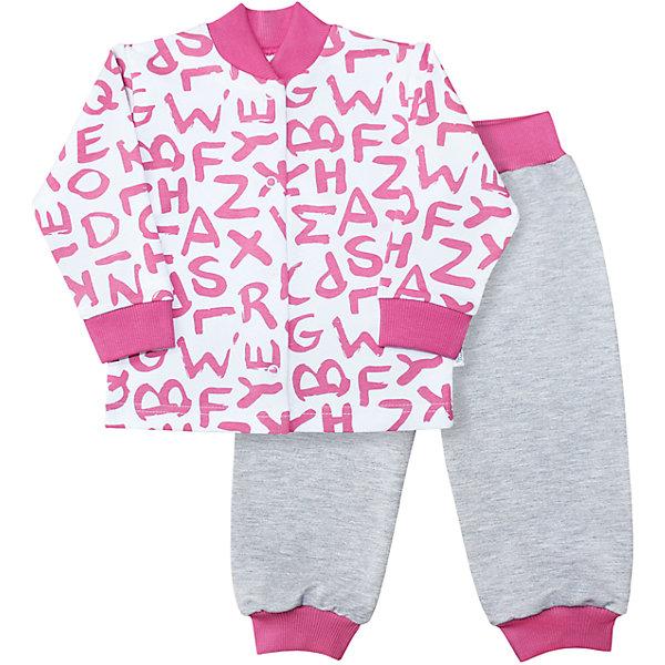 Комплект Веселый малыш для девочкиКомплекты<br>Характеристики товара:<br><br>• цвет: розовый<br>• комплектация: кофточка и брюки<br>• состав ткани: 95% хлопок, 5% полиэстер<br>• подкладка: нет<br>• сезон: круглый год<br>• длинные рукава<br>• застежка: кнопки<br>• пояс: резинка<br>• страна бренда: Россия<br>• страна изготовитель: Россия<br><br>Такой комплект для детей снабжен удобными кнопками. Симпатичный детский комплект боди сделан из мягкого эластичного материала. Хлопок делает этот комплект для ребенка очень комфортным. Материал детского комплекта позволяет коже дышать, он приятен на ощупь и не вызывает аллергии. <br><br>Комплект Веселый малыш для девочки можно купить в нашем интернет-магазине.<br>Ширина мм: 157; Глубина мм: 13; Высота мм: 119; Вес г: 200; Цвет: розовый; Возраст от месяцев: 6; Возраст до месяцев: 9; Пол: Женский; Возраст: Детский; Размер: 74,98,92,86,80; SKU: 7053232;