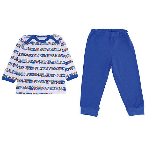 Пижама Веселый малыш для мальчикаПижамы<br>Характеристики товара:<br><br>• цвет: синий<br>• комплектация: лонгслив и брюки<br>• состав ткани: 100% хлопок<br>• подкладка: нет<br>• сезон: круглый год<br>• длинные рукава<br>• пояс: резинка<br>• страна бренда: Россия<br>• страна изготовитель: Россия<br><br>Мягкая детская пижама состоит из удобного лонгслива и брюк. Хлопковая пижама для детей сделана из мягкого эластичного материала. Хлопок делает эту пижаму для ребенка очень комфортной. Материал детской пижамы позволяет коже дышать, он приятен на ощупь и не вызывает аллергии. <br><br>Пижаму Веселый малыш для мальчика можно купить в нашем интернет-магазине.<br>Ширина мм: 281; Глубина мм: 70; Высота мм: 188; Вес г: 295; Цвет: синий; Возраст от месяцев: 6; Возраст до месяцев: 9; Пол: Мужской; Возраст: Детский; Размер: 74,68,86,80; SKU: 7053408;