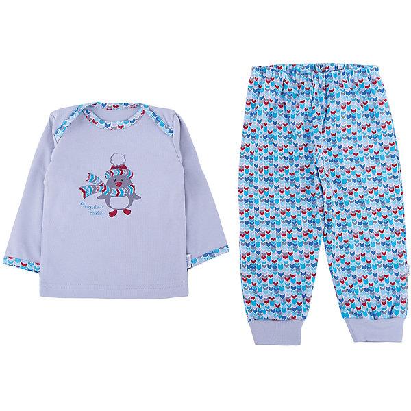 Пижама Веселый малыш для мальчикаПижамы<br>Характеристики товара:<br><br>• цвет: голубой<br>• комплектация: лонгслив и брюки<br>• состав ткани: 100% хлопок<br>• подкладка: нет<br>• сезон: круглый год<br>• длинные рукава<br>• пояс: резинка<br>• страна бренда: Россия<br>• страна изготовитель: Россия<br><br>Обеспечить малышам комфорт во время сна поможет такая пижама для ребенка. Детская пижама от бренда Веселый малыш отличается мягкими швами и дышащим материалом. Хлопковая детская пижама легко стирается и быстро сохнет, долго сохраняет отличный внешний вид.<br><br>Пижаму Веселый малыш для мальчика можно купить в нашем интернет-магазине.<br>Ширина мм: 281; Глубина мм: 70; Высота мм: 188; Вес г: 295; Цвет: голубой; Возраст от месяцев: 6; Возраст до месяцев: 9; Пол: Мужской; Возраст: Детский; Размер: 74,86,68,80; SKU: 7053413;