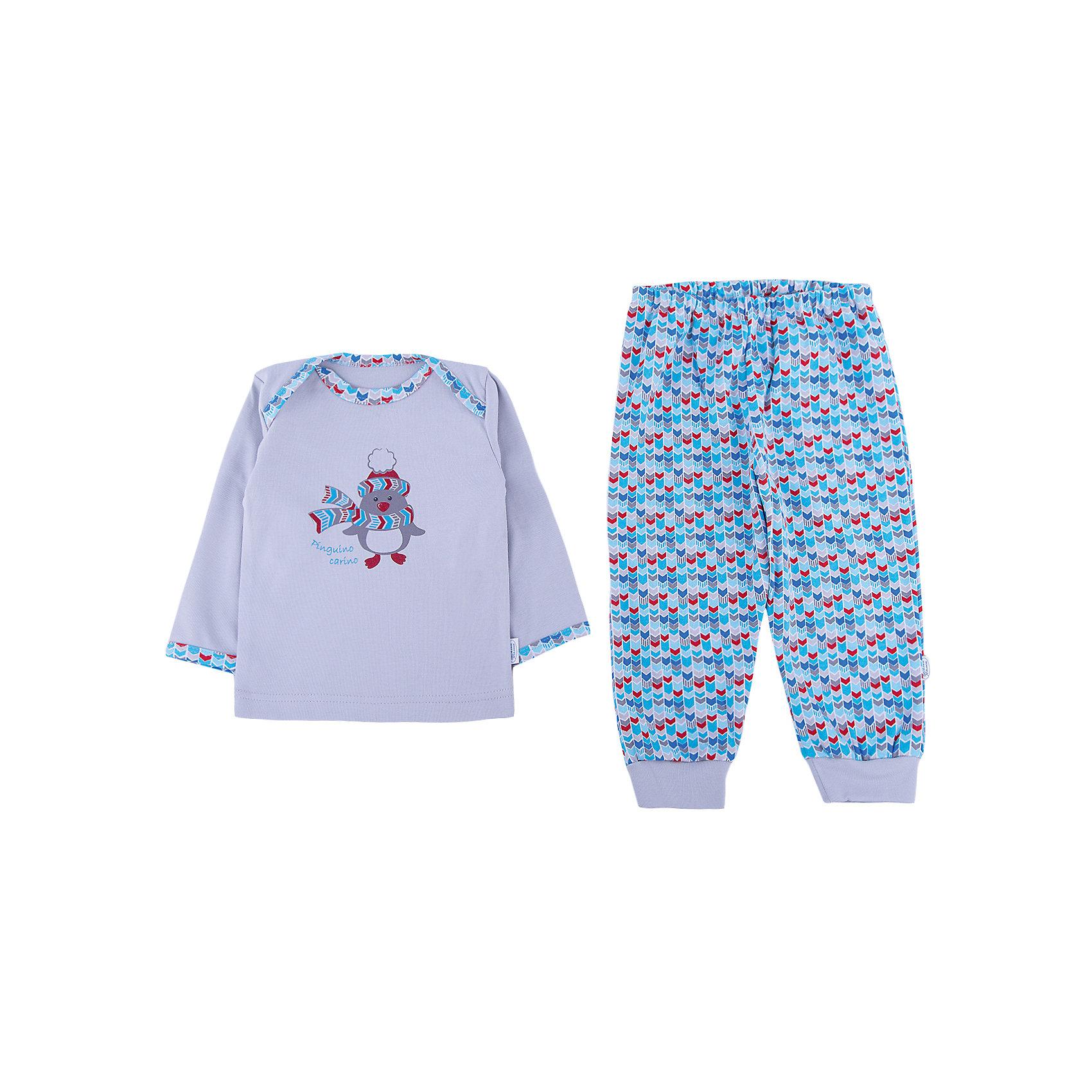 Пижама Веселый малыш для мальчикаПижамы<br>Характеристики товара:<br><br>• цвет: голубой<br>• комплектация: лонгслив и брюки<br>• состав ткани: 100% хлопок<br>• подкладка: нет<br>• сезон: круглый год<br>• длинные рукава<br>• пояс: резинка<br>• страна бренда: Россия<br>• страна изготовитель: Россия<br><br>Обеспечить малышам комфорт во время сна поможет такая пижама для ребенка. Детская пижама от бренда Веселый малыш отличается мягкими швами и дышащим материалом. Хлопковая детская пижама легко стирается и быстро сохнет, долго сохраняет отличный внешний вид.<br><br>Пижаму Веселый малыш для мальчика можно купить в нашем интернет-магазине.<br><br>Ширина мм: 281<br>Глубина мм: 70<br>Высота мм: 188<br>Вес г: 295<br>Цвет: голубой<br>Возраст от месяцев: 12<br>Возраст до месяцев: 18<br>Пол: Мужской<br>Возраст: Детский<br>Размер: 86,68,74,80<br>SKU: 7053413