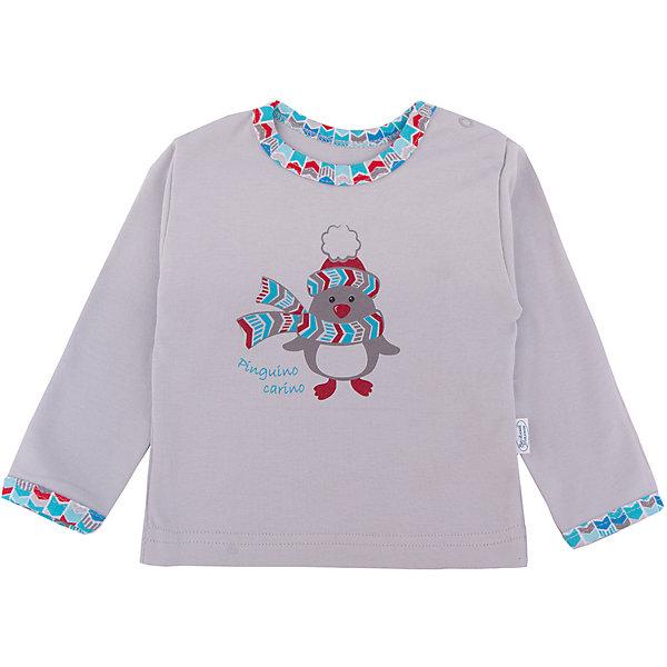 Футболка Веселый малыш для мальчикаФутболки, топы<br>Характеристики товара:<br><br>• цвет: голубой<br>• состав ткани: 100% хлопок<br>• подкладка: нет<br>• сезон: круглый год<br>• длинные рукава<br>• страна бренда: Россия<br>• страна изготовитель: Россия<br><br>Голубая детская футболка разработана специально для малышей. Хлопковая футболка для детей сделана из мягкого эластичного материала. Хлопок делает эту футболку для ребенка очень комфортной и дышащей. Материал детской футболки приятен на ощупь и не вызывает аллергии. <br><br>Футболку Веселый малыш для мальчика можно купить в нашем интернет-магазине.<br>Ширина мм: 199; Глубина мм: 10; Высота мм: 161; Вес г: 151; Цвет: голубой; Возраст от месяцев: 3; Возраст до месяцев: 6; Пол: Мужской; Возраст: Детский; Размер: 68,80,74; SKU: 7053423;