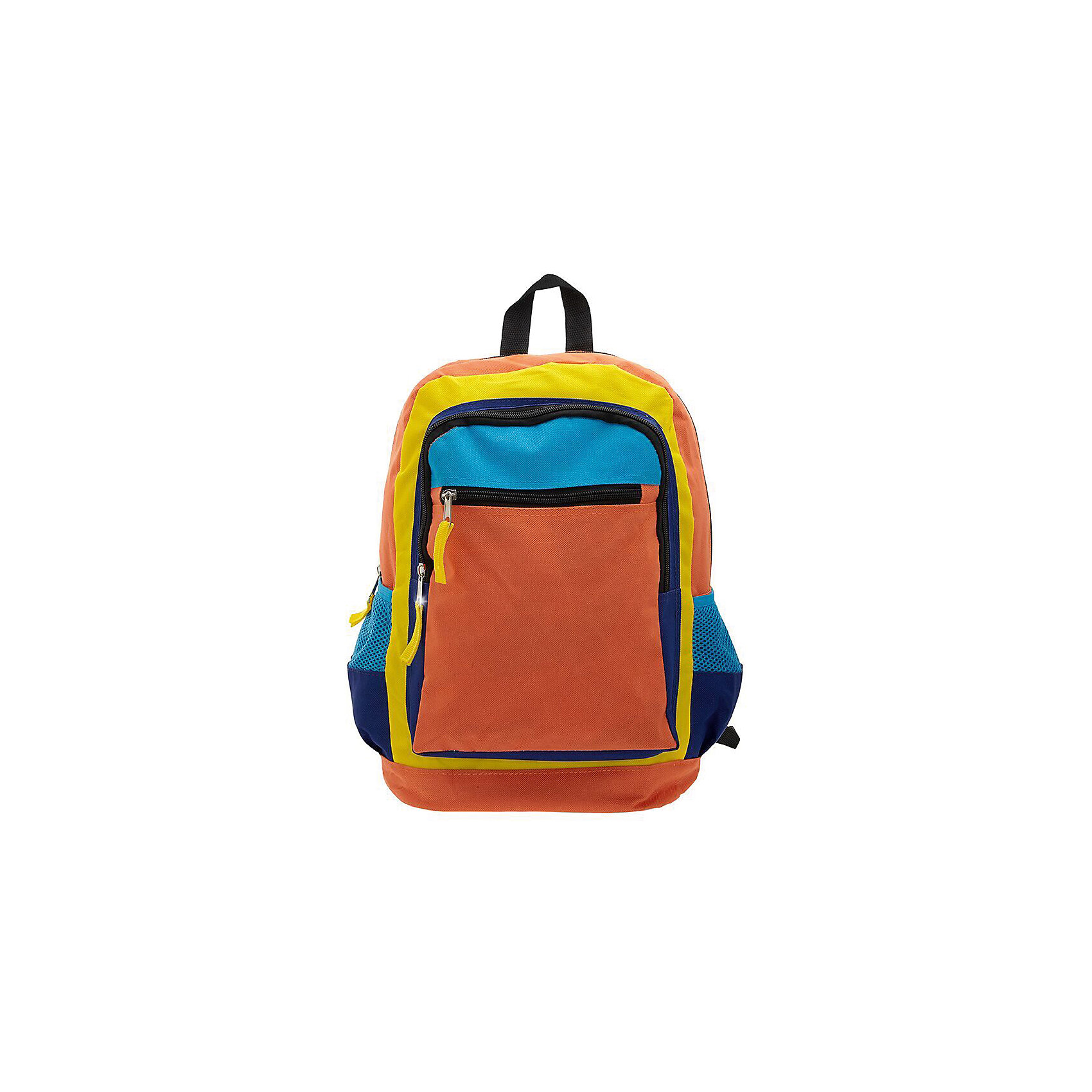 Рюкзак Оранжевое настроение, цвет оранжевый с синимРюкзаки<br>Вес: 0,3 кг<br>Размер: 38х28х16 см<br>Состав: рюкзак<br>Наличие светоотражающих элементов: нет<br>Материал: полиэстер<br><br>Ширина мм: 380<br>Глубина мм: 280<br>Высота мм: 160<br>Вес г: 300<br>Возраст от месяцев: 60<br>Возраст до месяцев: 120<br>Пол: Унисекс<br>Возраст: Детский<br>SKU: 7054021
