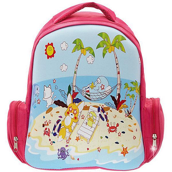 Рюкзак Пляж, цвет мультиРюкзаки<br>Характеристики товара:<br><br>• цвет: розовый/голубой;<br>• возраст: от 3 лет;<br>• особенности рюкзака: легкий, с принтом;<br>• вес: 0,3 кг;<br>• размер: 38х28х12 см;<br>• материал: полиэстер;<br>• страна бренда: США;<br>• страна изготовитель: Китай.<br><br>Рюкзак «Пляж» идеально подходят для хранения вещей, которые так необходимы маленьким героям на детской площадке, во время прогулки или на пикнике. <br><br>Просторный внутренний отсек удобен в использовании. Лицевая сторона рюкзака на прочной основе выполнена в виде веселой детской картинки, которая всегда будет радовать Вашего малыша.<br><br>Рюкзак «Пляж» можно купить в нашем интернет-магазине.<br><br>Ширина мм: 360<br>Глубина мм: 280<br>Высота мм: 120<br>Вес г: 300<br>Возраст от месяцев: 36<br>Возраст до месяцев: 72<br>Пол: Унисекс<br>Возраст: Детский<br>SKU: 7054023