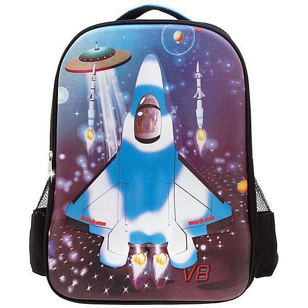 Рюкзак Самолет, цвет черный с синимРюкзаки<br>Характеристики товара:<br><br>• цвет: черный/синий;<br>• возраст: от 2 до 5 лет;<br>• особенности рюкзака: легкий, с принтом;<br>• вес: 0,5 кг;<br>• размер: 42х30х12 см;<br>• материал: полиэстер;<br>• страна бренда: США;<br>• страна изготовитель: Китай.<br><br>Рюкзак «Самолет» идеально подходят для хранения вещей, которые так необходимы маленьким героям на детской площадке, во время прогулки или на пикнике. <br><br>Сделан из прочного, износоустойчивого полиэстера. Просторный внутренний отсек удобен в использовании. Лицевая сторона рюкзака на прочной основе выполнена в виде веселой детской картинки, которая всегда будет радовать вашего малыша.<br><br>Рюкзак «Самолет» можно купить в нашем интернет-магазине.<br><br>Ширина мм: 420<br>Глубина мм: 300<br>Высота мм: 120<br>Вес г: 500<br>Возраст от месяцев: 60<br>Возраст до месяцев: 72<br>Пол: Унисекс<br>Возраст: Детский<br>SKU: 7054024