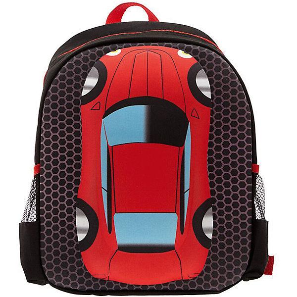 Рюкзак Машина, цвет черный с краснымРюкзаки<br>Характеристики товара:<br><br>• цвет: черный/красный;<br>• возраст: от 2 до 5 лет;<br>• вес: 0,3 кг;<br>• размер: 36х28х12 см;<br>• материал: полиэстер;<br>• спинка: уплотненная мягкая;<br>• лямки: регулируемые по длине, уплотненные;<br>• уплотненное дно;<br>• 2 кармана;<br>• страна бренда: США;<br>• страна изготовитель: Китай.<br><br>Рюкзак «Машинка» идеально подходит для детей дошкольного возраста. Он вместительный, легкий и с ним удобно ходить в садик, на площадку, прогулки по городу и кружки. <br><br>Рюкзак сделан из прочного, износоустойчивого полиэстера. На лицевой стороне рюкзака расположен объемный рисунок машины. <br><br>Рюкзак «Машинка» можно купить в нашем интернет-магазине.<br><br>Ширина мм: 360<br>Глубина мм: 280<br>Высота мм: 120<br>Вес г: 300<br>Возраст от месяцев: 60<br>Возраст до месяцев: 72<br>Пол: Унисекс<br>Возраст: Детский<br>SKU: 7054025