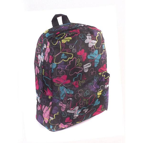 Рюкзак Радужные бабочки, цвет мультиРюкзаки<br>Характеристики товара:<br><br>• цвет: мульти;<br>• возраст: от 7 лет;<br>• особенности рюкзака: большой, легкий;<br>• вес: 0,3 кг;<br>• размер: 40х32х13 см;<br>• материал: полиэстер;<br>• уплотненная мягкая спинка;<br>• лямки регулируются по росту; <br>уплотненные;<br>• страна бренда: США;<br>• страна изготовитель: Китай.<br><br>Стильный, вместительный и практичный, рюкзак понравится и школьникам, и студентам. Просторный внутренний отсек, наружний карман на молнии будут очень удобны в использовании.<br><br>Рюкзак «Радужные бабочки» можно купить в нашем интернет-магазине.<br><br>Ширина мм: 400<br>Глубина мм: 320<br>Высота мм: 130<br>Вес г: 300<br>Возраст от месяцев: 84<br>Возраст до месяцев: 720<br>Пол: Унисекс<br>Возраст: Детский<br>SKU: 7054029