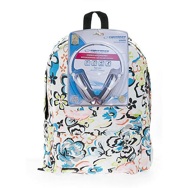 Рюкзак Цветы с наушниками, цвет мультиРюкзаки<br>Характеристики товара:<br><br>• цвет: мульти;<br>• класс: от 7 лет;<br>• особенности рюкзака: большой, легкий;<br>• вес: 0,5 кг;<br>• размер: 40х32х13 см;<br>• материал: текстиль;<br>• в комплекте наушники;<br>• уплотненная мягкая спинка;<br>• лямки регулируются по росту; <br>уплотненные;<br>• страна бренда: США;<br>• страна изготовитель: Китай.<br><br>Стильный, вместительный и практичный, рюкзак понравится и школьникам, и студентам. Просторный внутренний отсек, наружный карман на молнии будут очень удобны в использовании.<br><br>В комплекте наушники. Настоящая находка для будущей рок-звезды!Длина кабеля 2м, разъем 3,5мм, сопротивление 32 Ом, диапазон часто - 20 Гц-20000 Гц, выходная мощность - 100 мВт.<br><br>Рюкзак «Цветы» с наушниками можно купить в нашем интернет-магазине.<br><br>Ширина мм: 400<br>Глубина мм: 320<br>Высота мм: 130<br>Вес г: 500<br>Возраст от месяцев: 84<br>Возраст до месяцев: 720<br>Пол: Унисекс<br>Возраст: Детский<br>SKU: 7054034