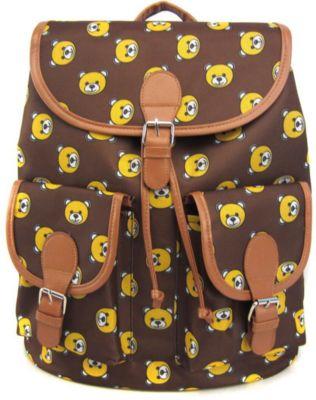 Creative LLC Рюкзак Мишки с 2-мя карманами, цвет коричневый