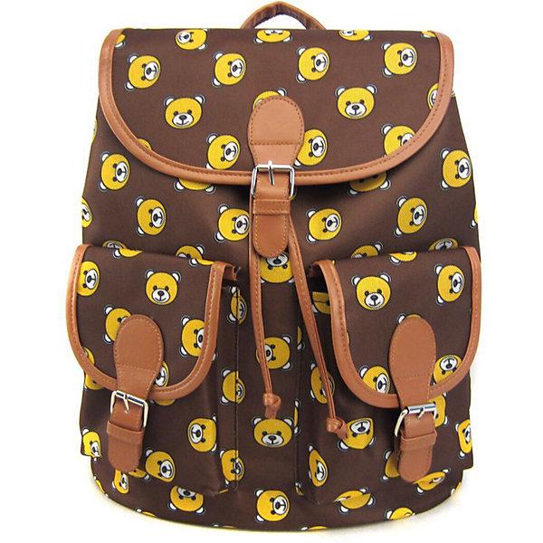 Рюкзак Мишки с 2-мя карманами, цвет коричневыйРюкзаки<br>Характеристики товара:<br><br>• цвет: коричневый;<br>• возраст: от 7 лет;<br>• особенности рюкзака: с принтом;<br>• вес: 0,5 кг;<br>• размер: 39х35х17 см;<br>• материал: полиэстер;<br>• затягивается на шнурок;<br>• сверху клапан застегивается;<br>• два кармана;<br>• лямки и фурнитура с отделкой из экокожи;<br>• страна бренда: США;<br>• страна изготовитель: Китай.<br><br>Стильный рюкзак с яркой расцветкой предназначен для студентов, школьников и всех любителей носить сумки за спиной.<br><br>Рюкзак имеет классический крой, застежку на клапан и двая карманами впереди. Лямки регулируются по высоте. Все швы и застежки рюкзака надежно и крепко пришиты.<br><br>Рюкзак «Мишки» с 2-мя карманами можно купить в нашем интернет-магазине.<br>Ширина мм: 390; Глубина мм: 350; Высота мм: 170; Вес г: 500; Возраст от месяцев: 84; Возраст до месяцев: 720; Пол: Унисекс; Возраст: Детский; SKU: 7054036;