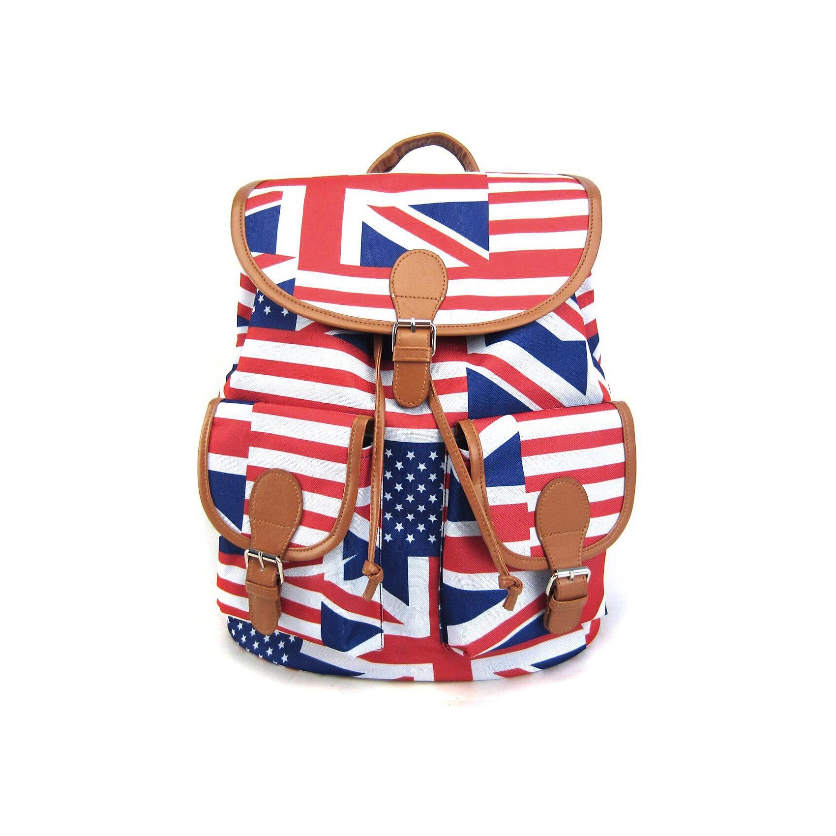 Рюкзак American Flag с 2-мя карманами, цвет мультиРюкзаки<br>Вес: 0,5 кг<br>Размер: 39х35х17 см<br>Состав: рюкзак<br>Наличие светоотражающих элементов: нет<br>Материал: полиэстер<br><br>Ширина мм: 390<br>Глубина мм: 350<br>Высота мм: 170<br>Вес г: 500<br>Возраст от месяцев: 84<br>Возраст до месяцев: 720<br>Пол: Унисекс<br>Возраст: Детский<br>SKU: 7054038